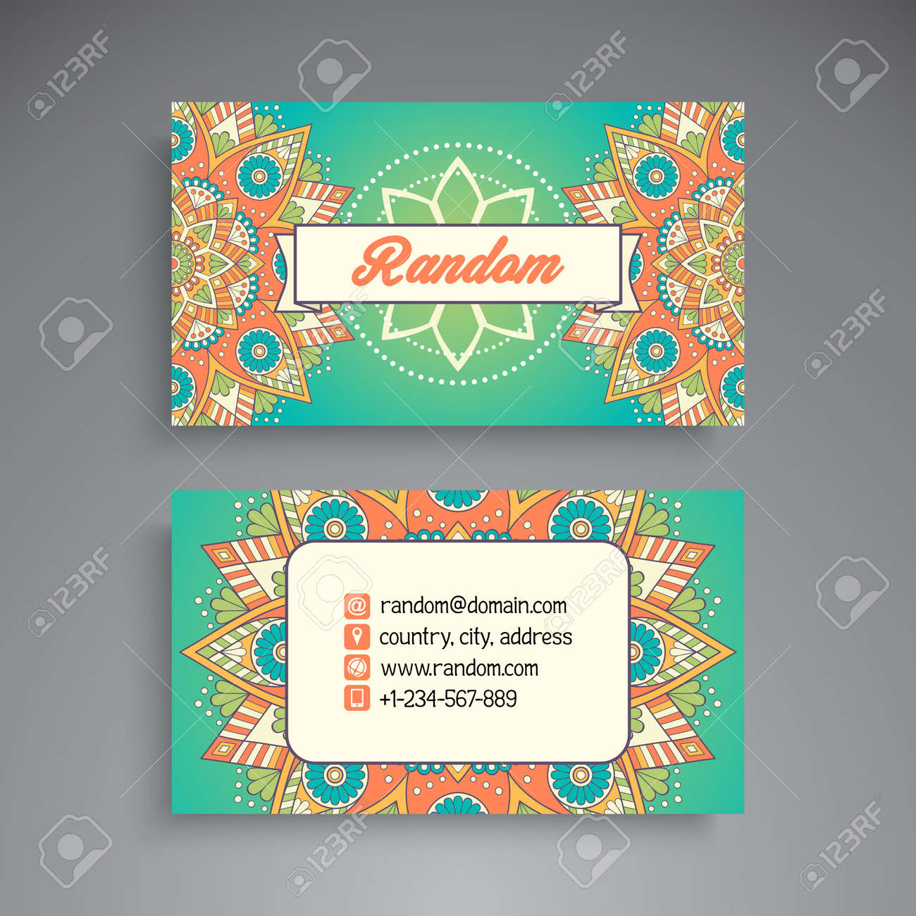 Business card vintage decorative elements ornamental floral business card vintage decorative elements ornamental floral business cards oriental pattern vector reheart Gallery