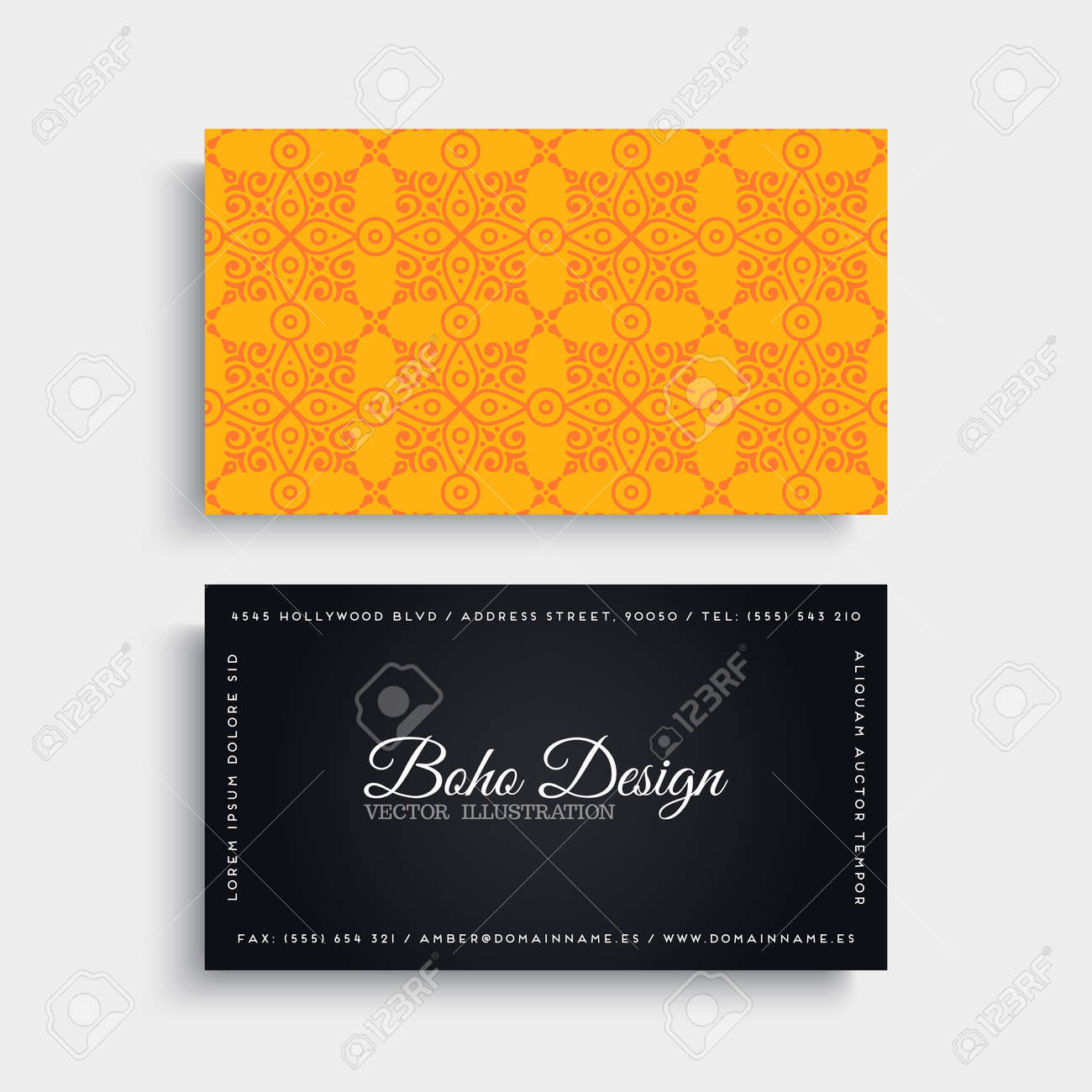 Business card vintage decorative elements ornamental floral banco de imagens business card vintage decorative elements ornamental floral business cards or invitation with mandala reheart Gallery