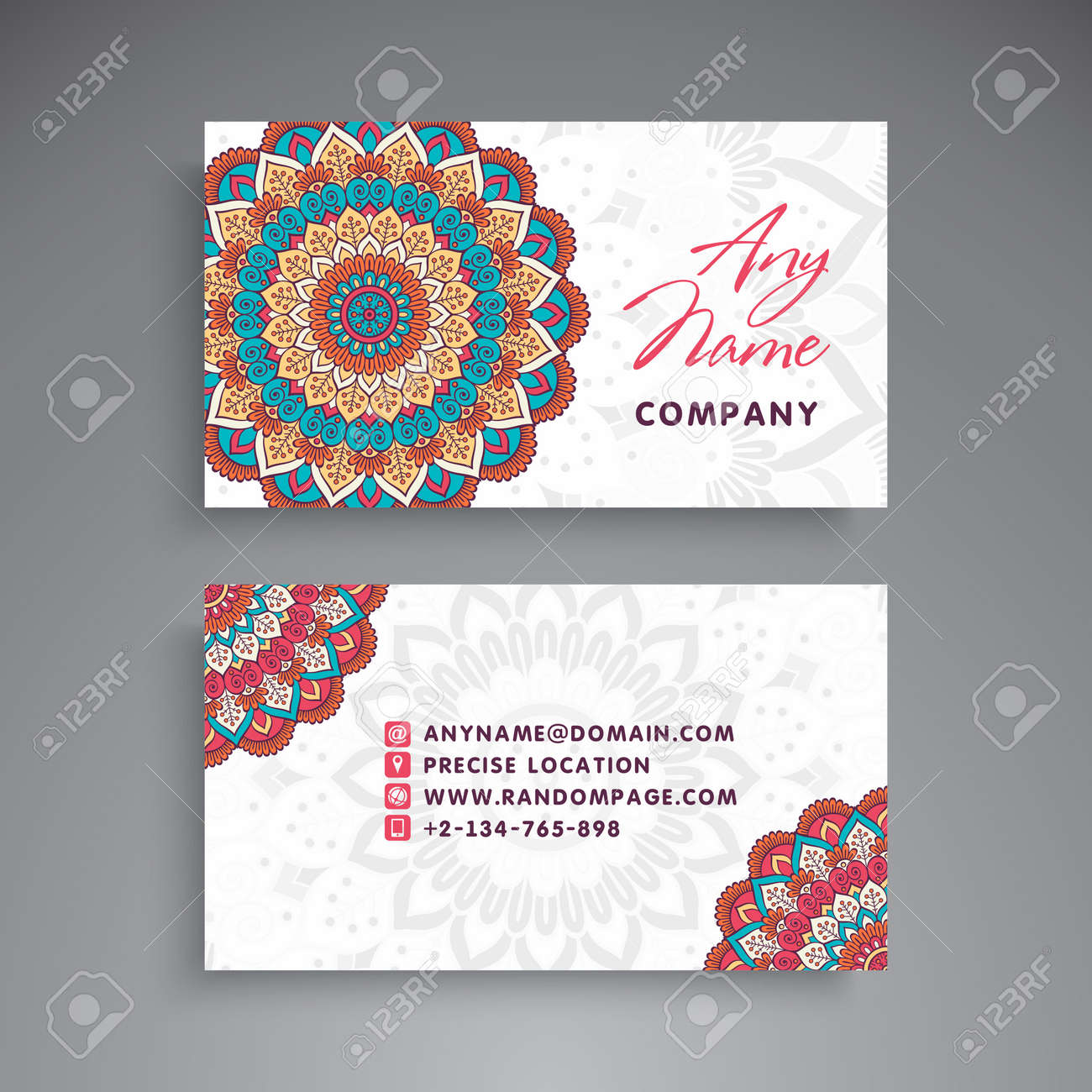 Business card vintage decorative elements ornamental floral business card vintage decorative elements ornamental floral business cards or invitation with mandala stock reheart Choice Image