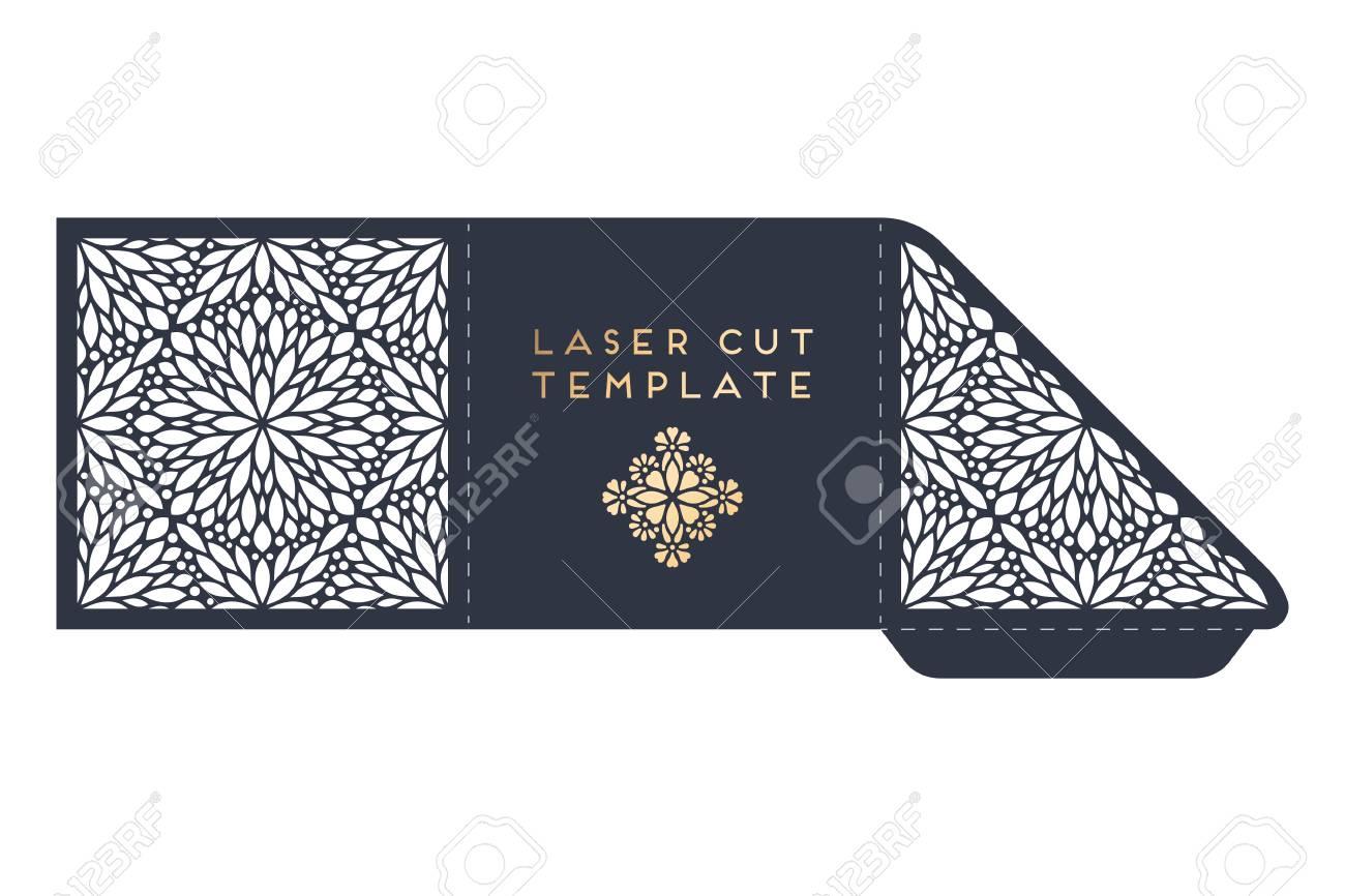 Vector Wedding Card Laser Cut Template With Mandala Royalty Free ...