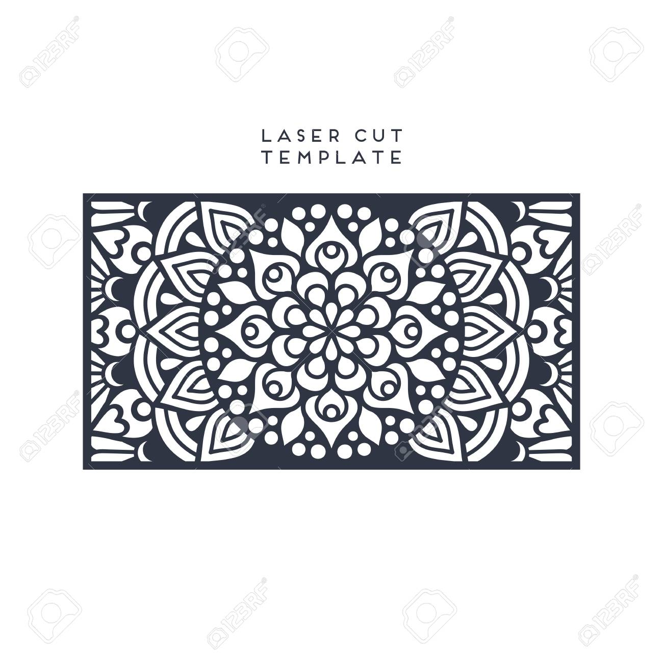 vector vector wedding card laser cut template vintage decorative elements design - Free Laser Cutter Templates