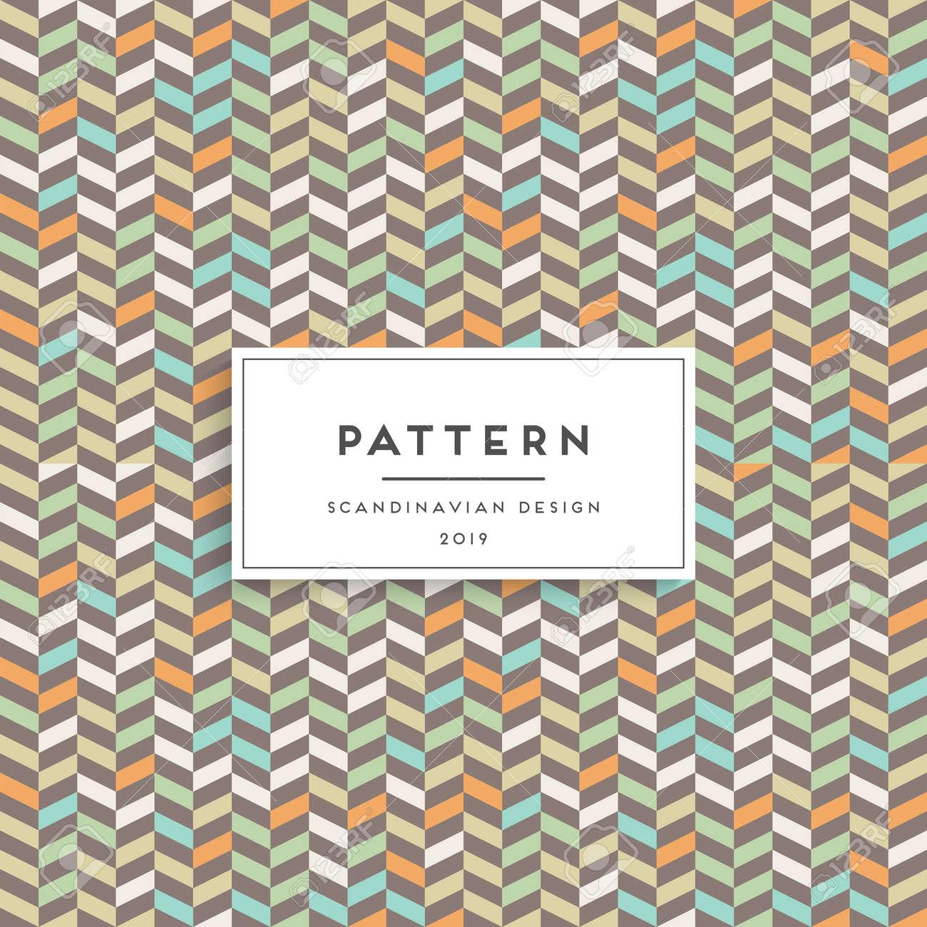 Scandinavian Floral Seamless Pattern Fabric Print Design Royalty