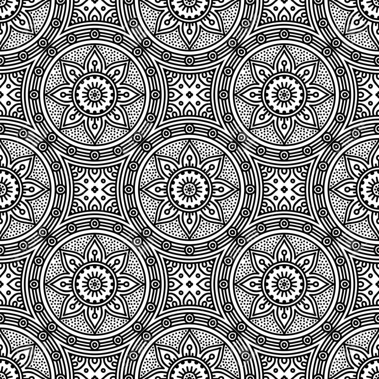 Seamless pattern. Vintage decorative elements - 152477250