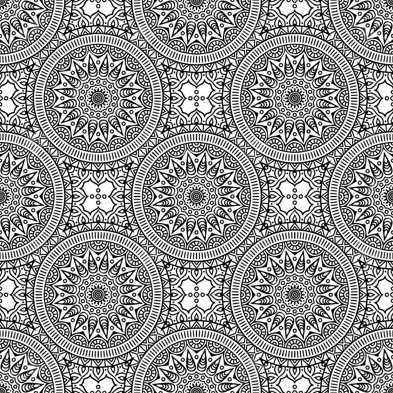 Seamless pattern. Vintage decorative elements - 152477254