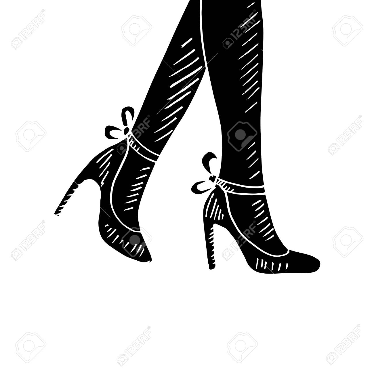 6b4b0540320 Woman legs with high heels icon.