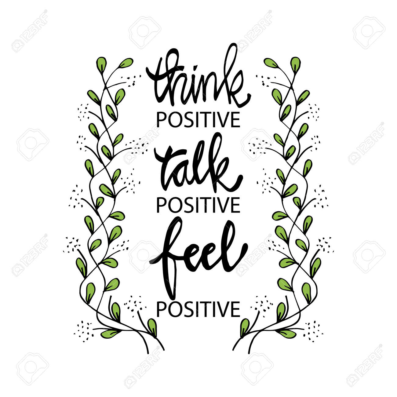 Think positive talk positive feel positive. Inspirational quotes