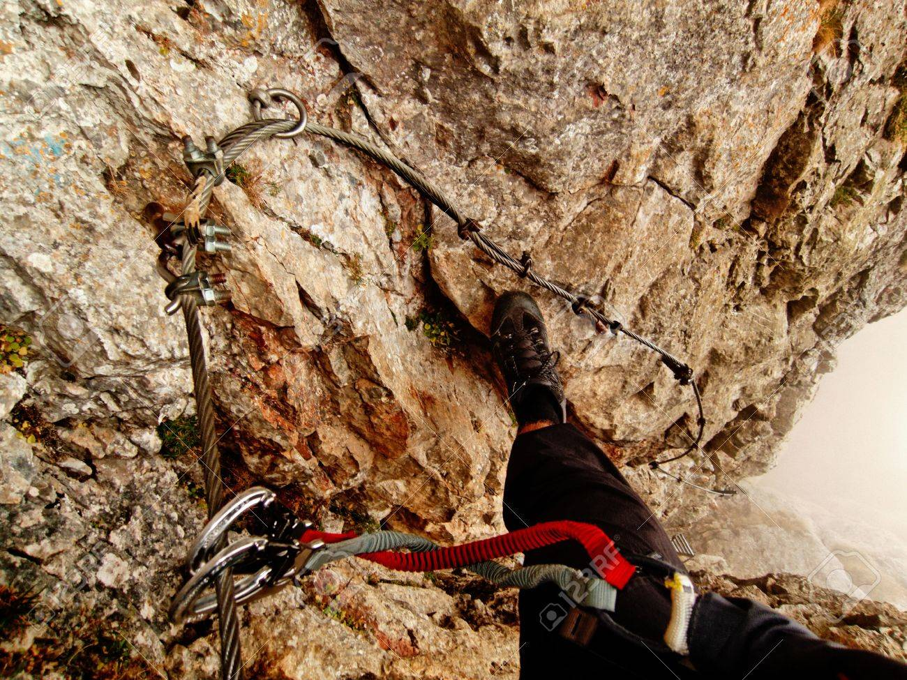 Klettersteig Rax : Hans von haid steig klettersteig c d austria preinerwand rax