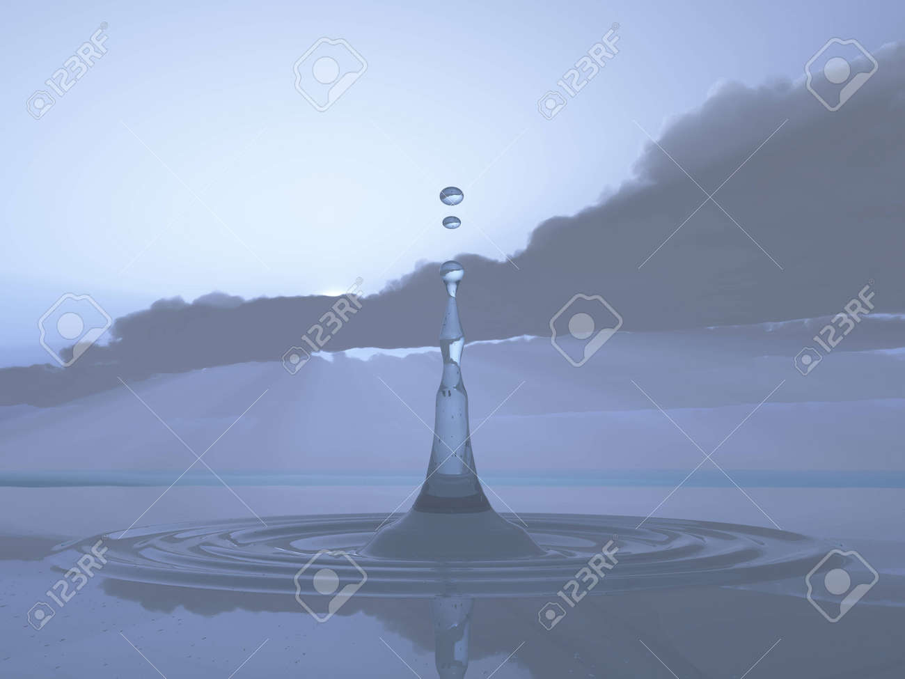 Rain Clouds With The First Drop Of Rain Stock Photo Picture And Royalty Free Image Image 10712053