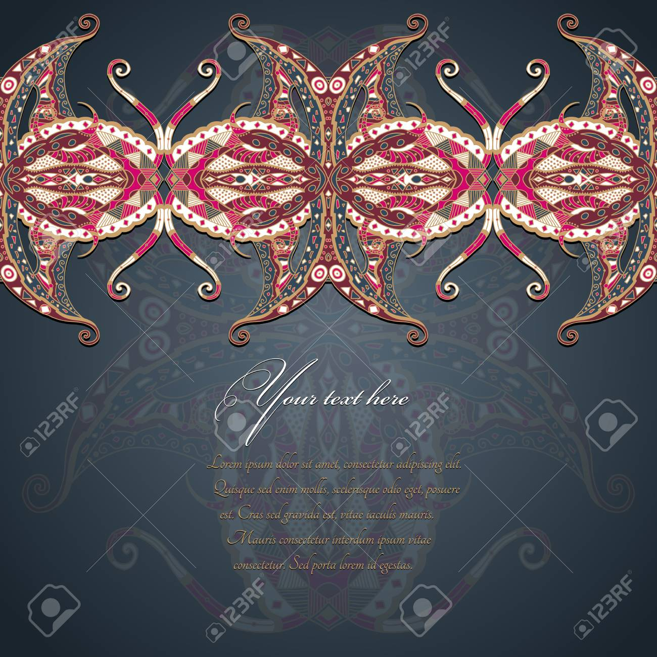 Grunge lace colored ornament Stock Vector - 22504380