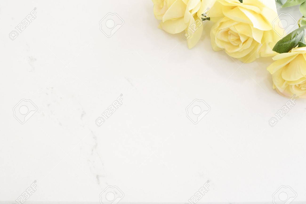 Yellow roses over marble background border of yellow roses stock stock photo yellow roses over marble background border of yellow roses floral frame with yellow flowers on wooden background mightylinksfo