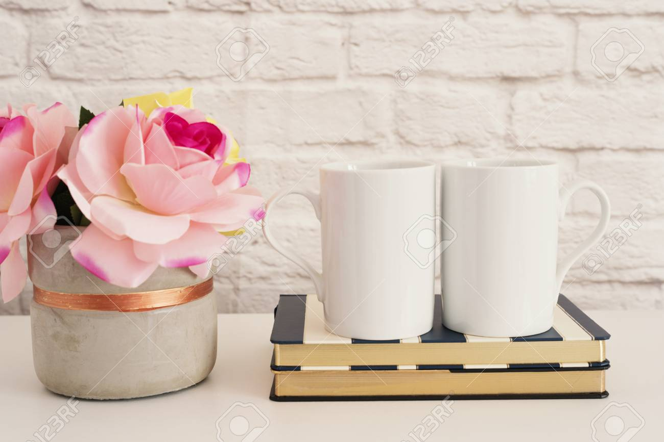 Two Mugs White Mugs Mockup Blank White Coffee Mug Mock Up Stock Photo Picture And Royalty Free Image Image 80599403