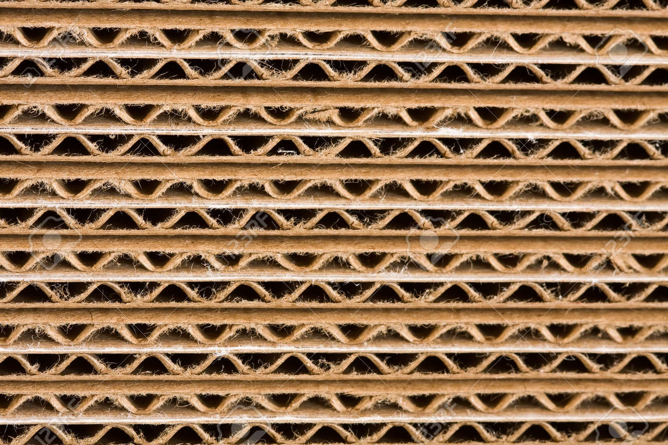 cardboard box close up detail background texture Stock Photo - 4746262