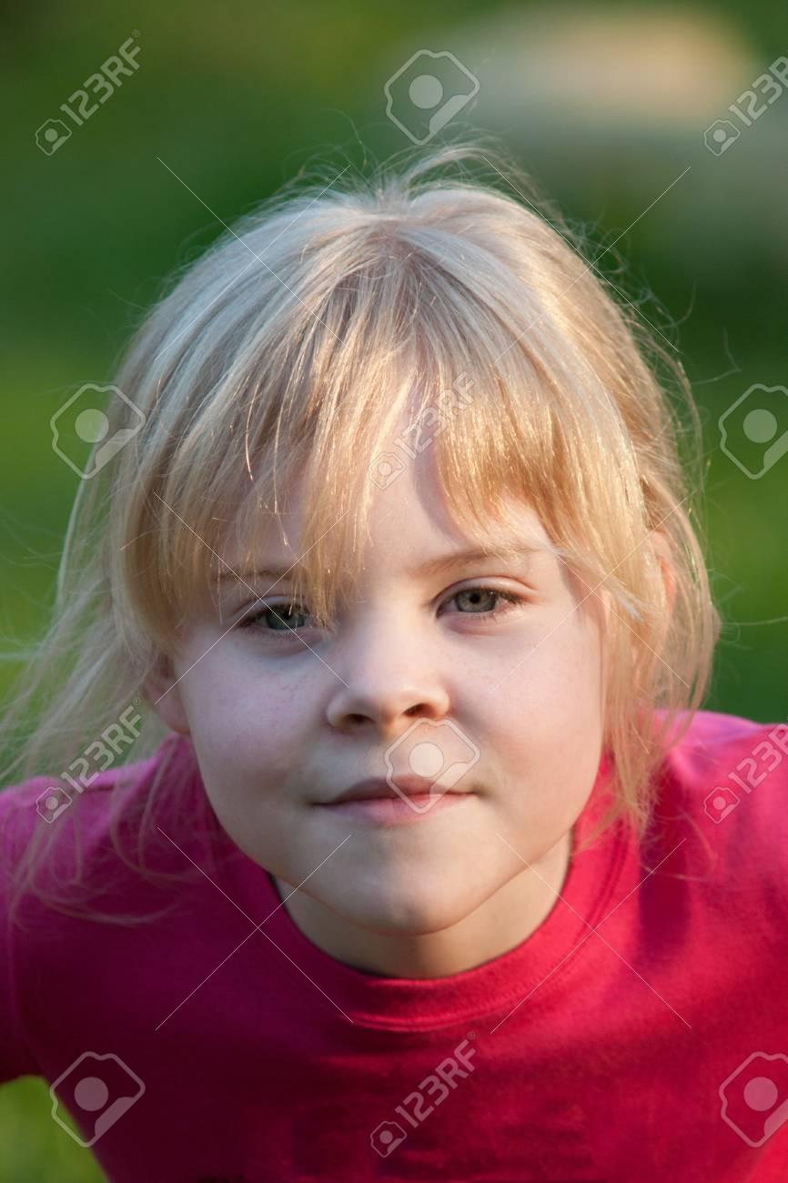 portrait of little girl outdoor Stock Photo - 14881532