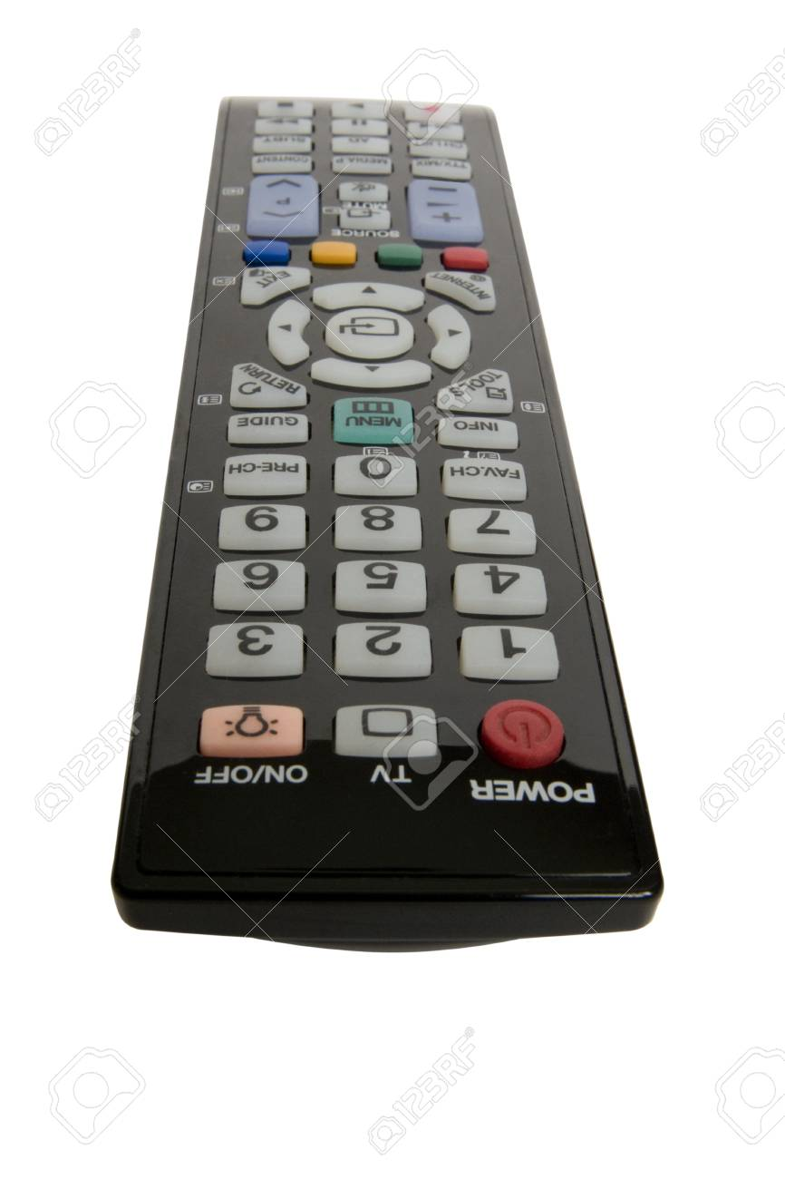 Infrared Remote Control Isolated On White Background Close Up Stock Photo 18255869