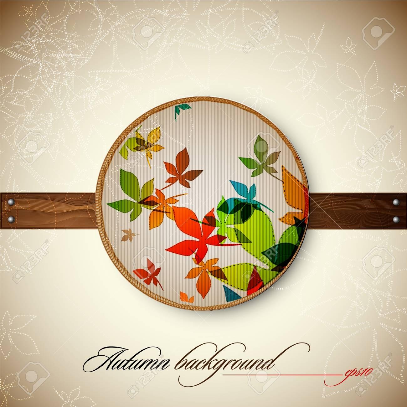 Autumn Vintage Decoration Stock Vector - 10810495