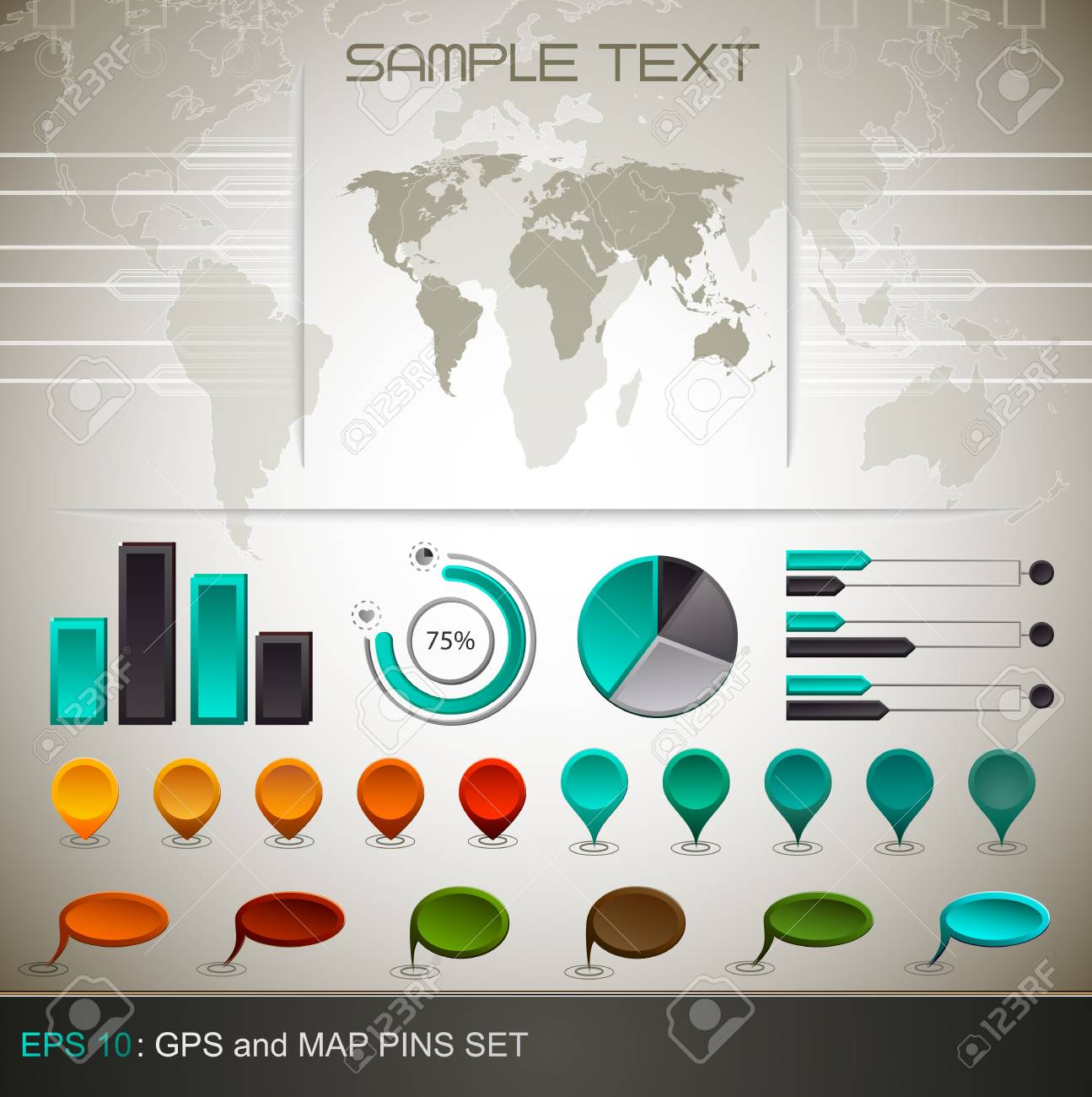 Detail infographic    EPS10 Compatibility Required Stock Vector - 11013265