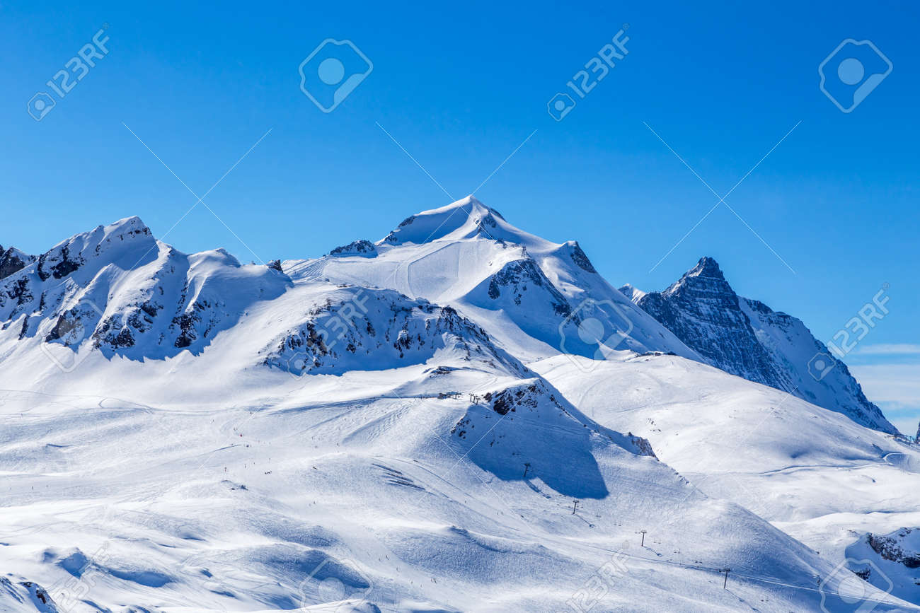 Morning View Of The Mountain La Grande Motte Tignes France Stock Photo Picture And Royalty Free Image Image 34599460