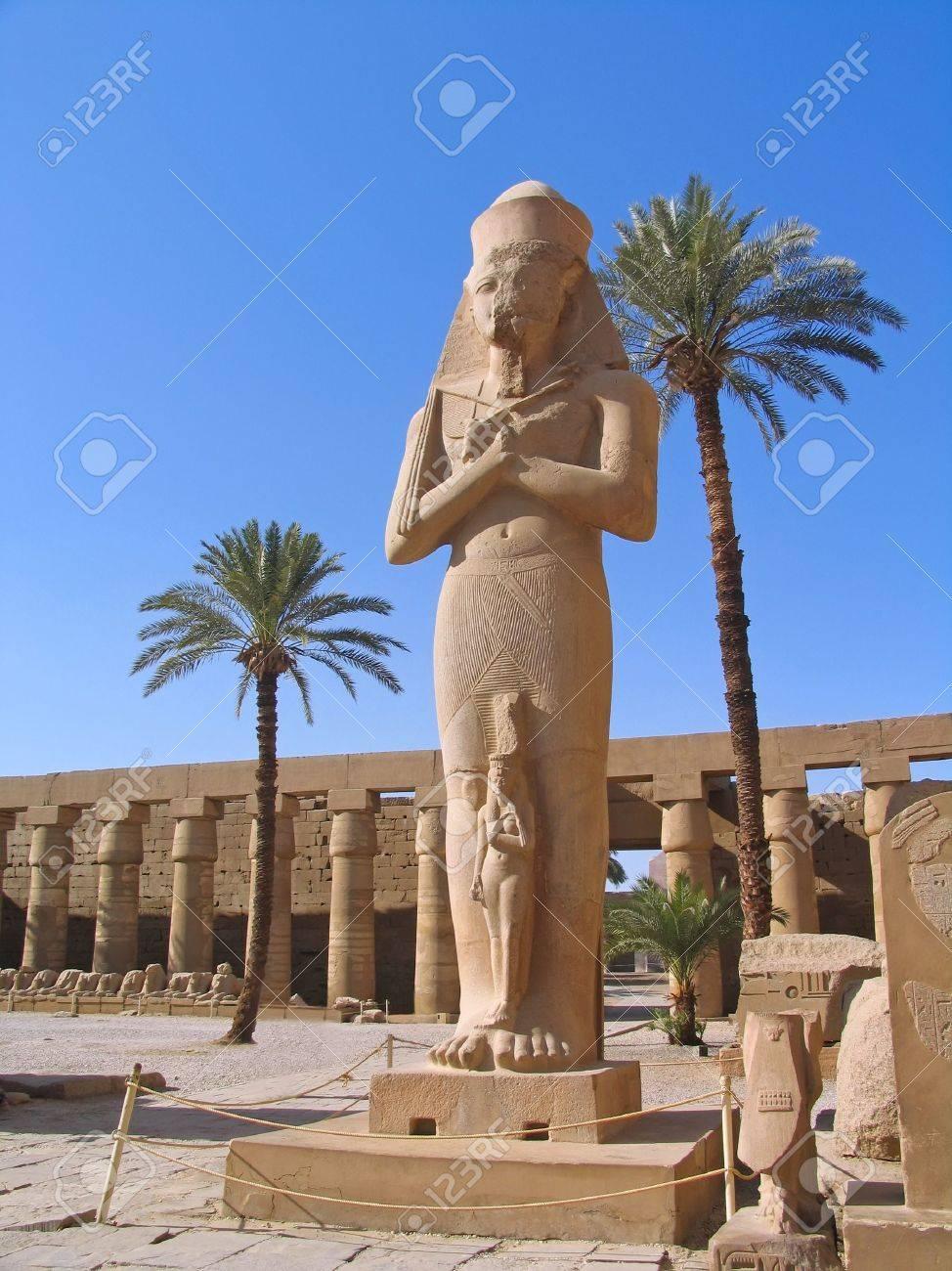 Rameses II Statue at Karnak Temple, Luxor, Egypt Stock Photo - 6824949