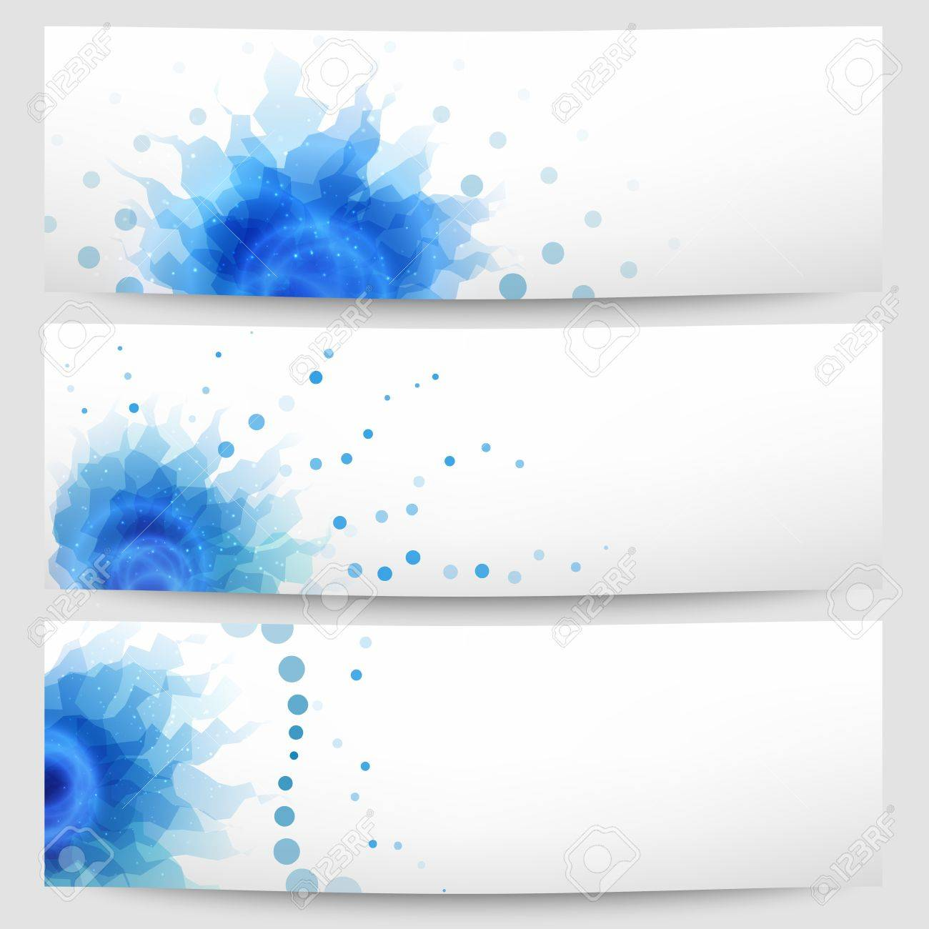 Set of three abstract white-blue banners Stock Vector - 18685489