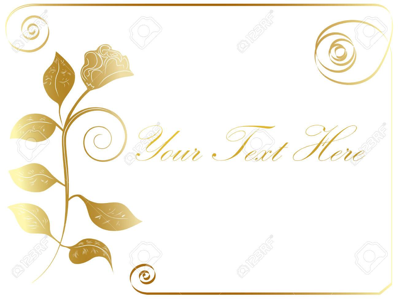 8b541e525ec5 Vector Golden Rose Frame At White Background Royalty Free Cliparts ...