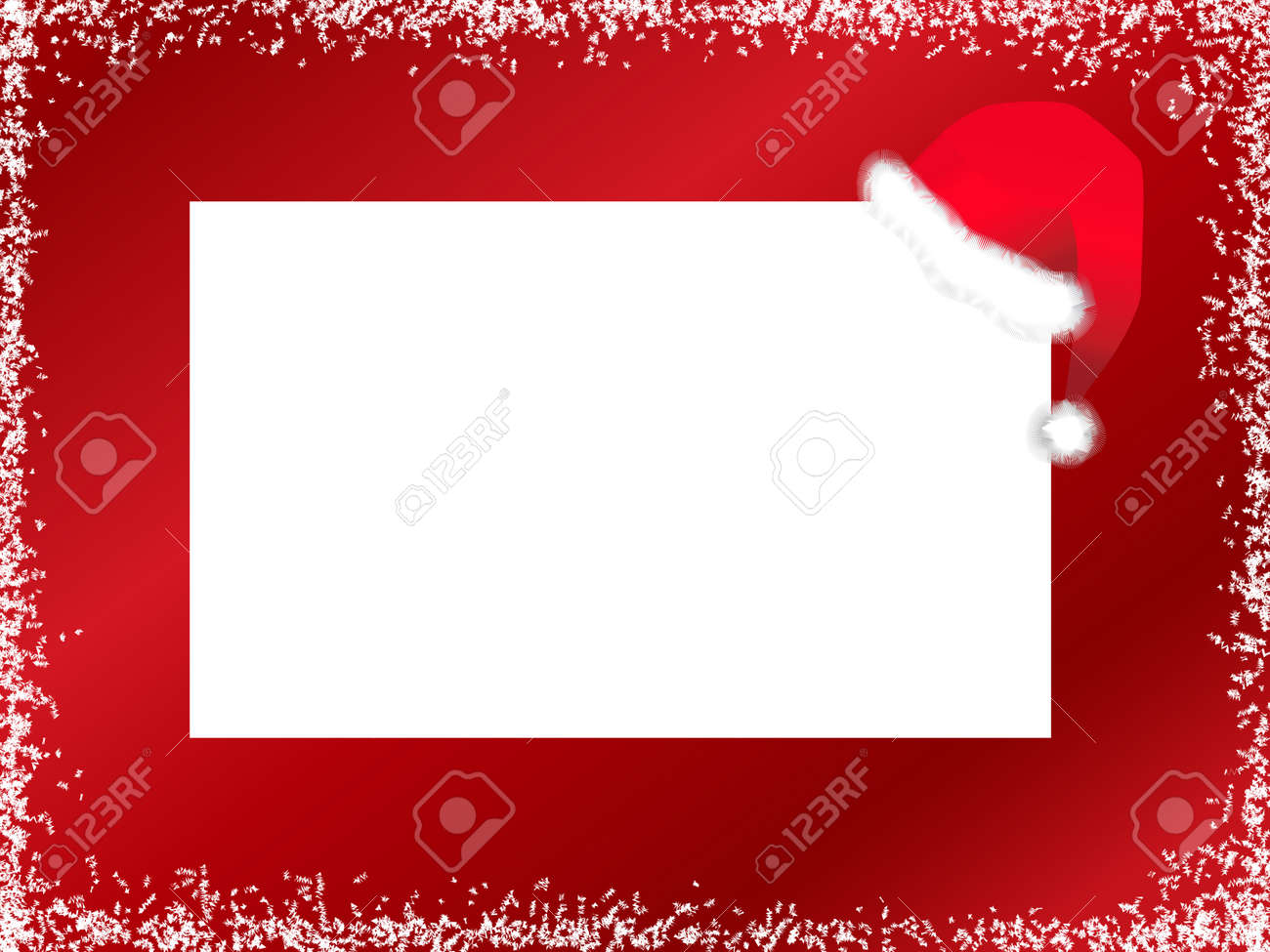 Illustration Of New Year Template With Santa Hat Against Red ...