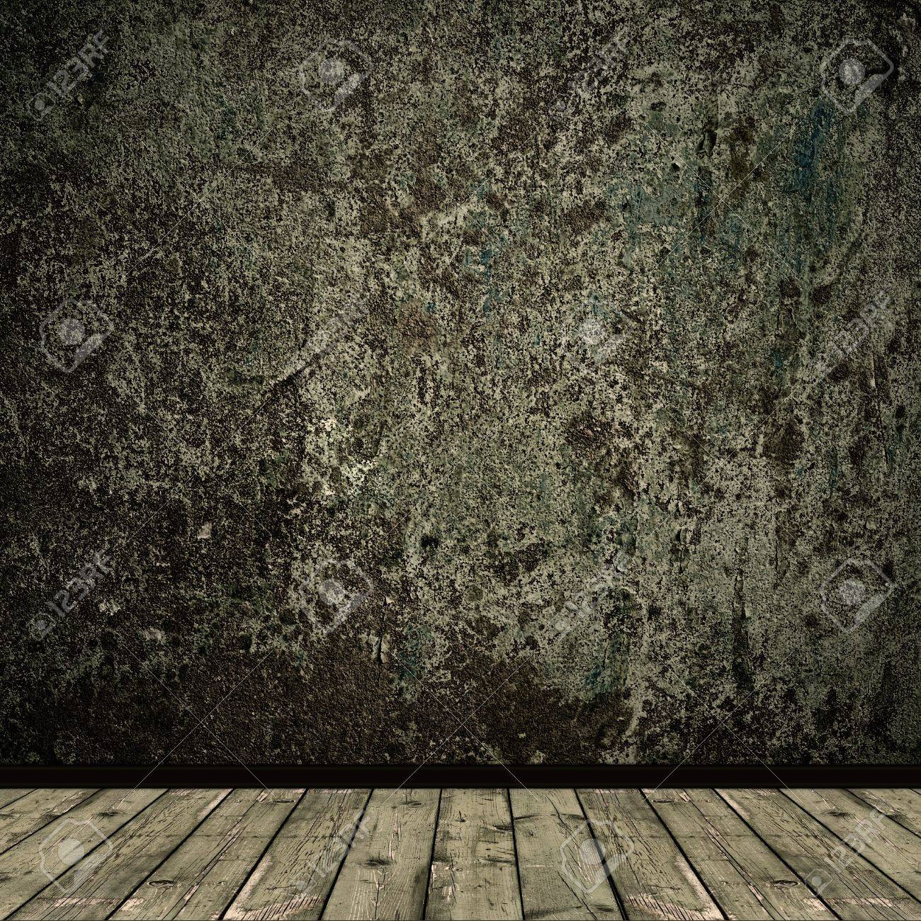 grunge floor and wall in old room Stock Photo - 6872644