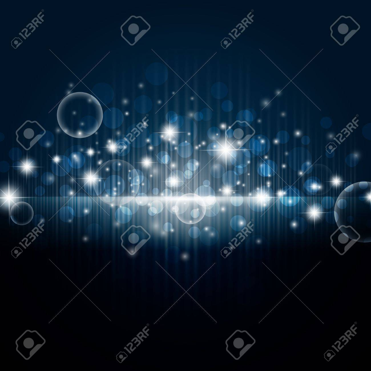 bright night background with stars and lights Stock Vector - 8229853