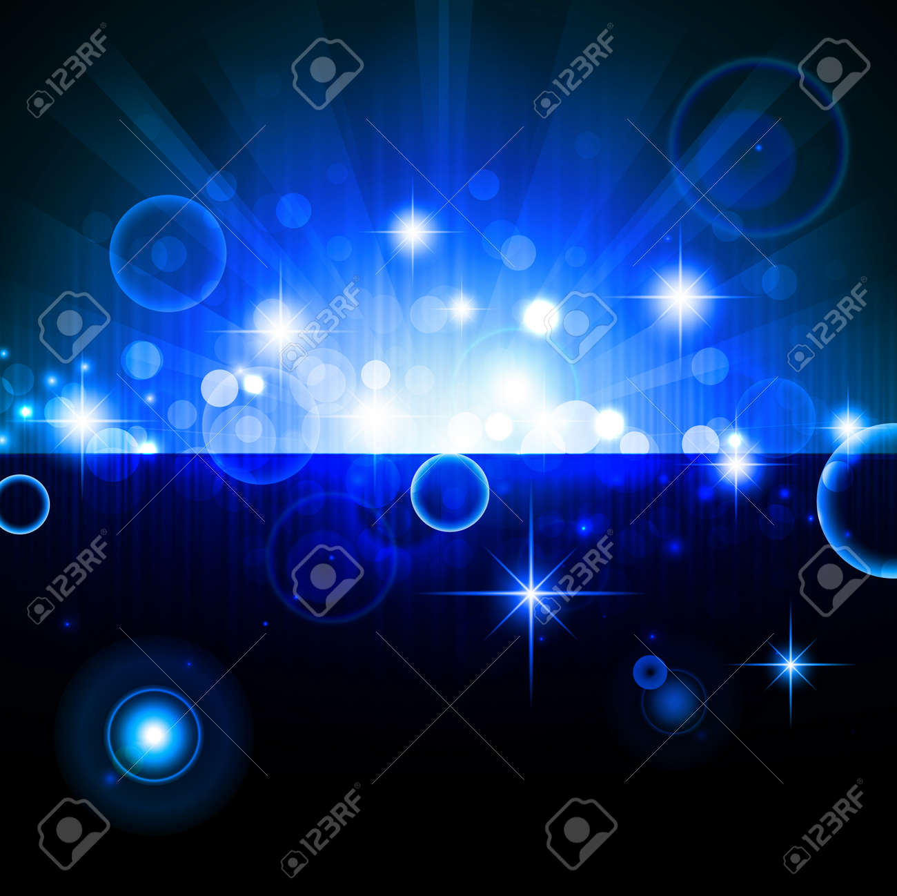 bright night background with stars and lights Stock Vector - 8229852