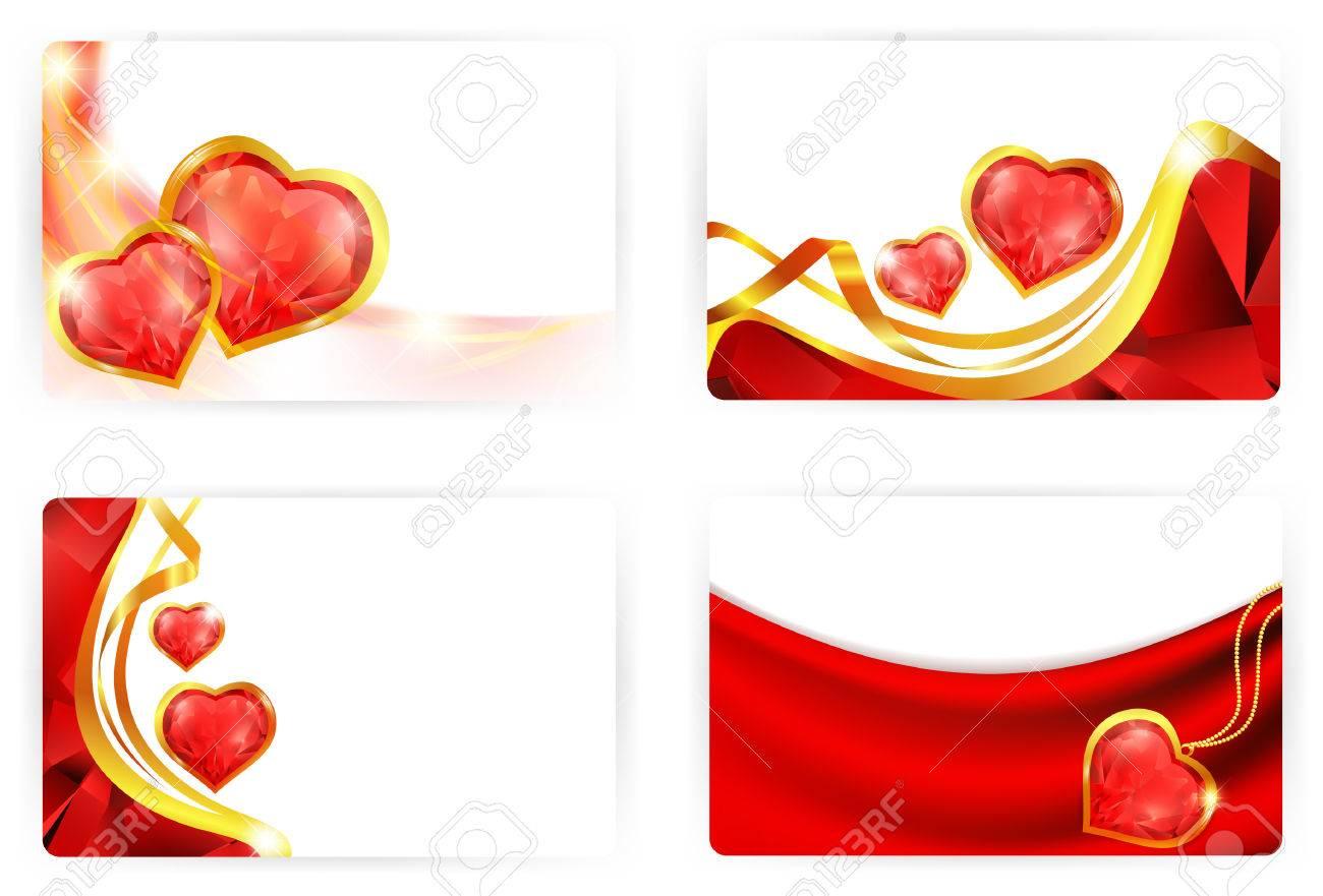 gift card templates crystal hearts xmm royalty vector gift card templates crystal hearts 86x54mm