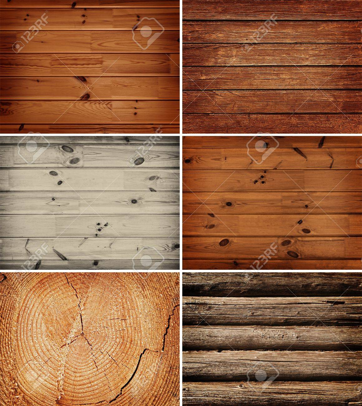 set of different wooden backgrounds Stock Photo - 10307970
