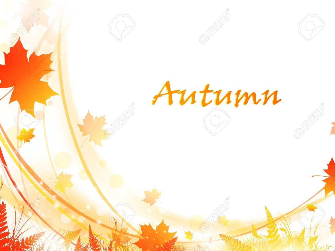 Autumn maple leaves bright frame, copy-space for your text Stock Vector - 10476160