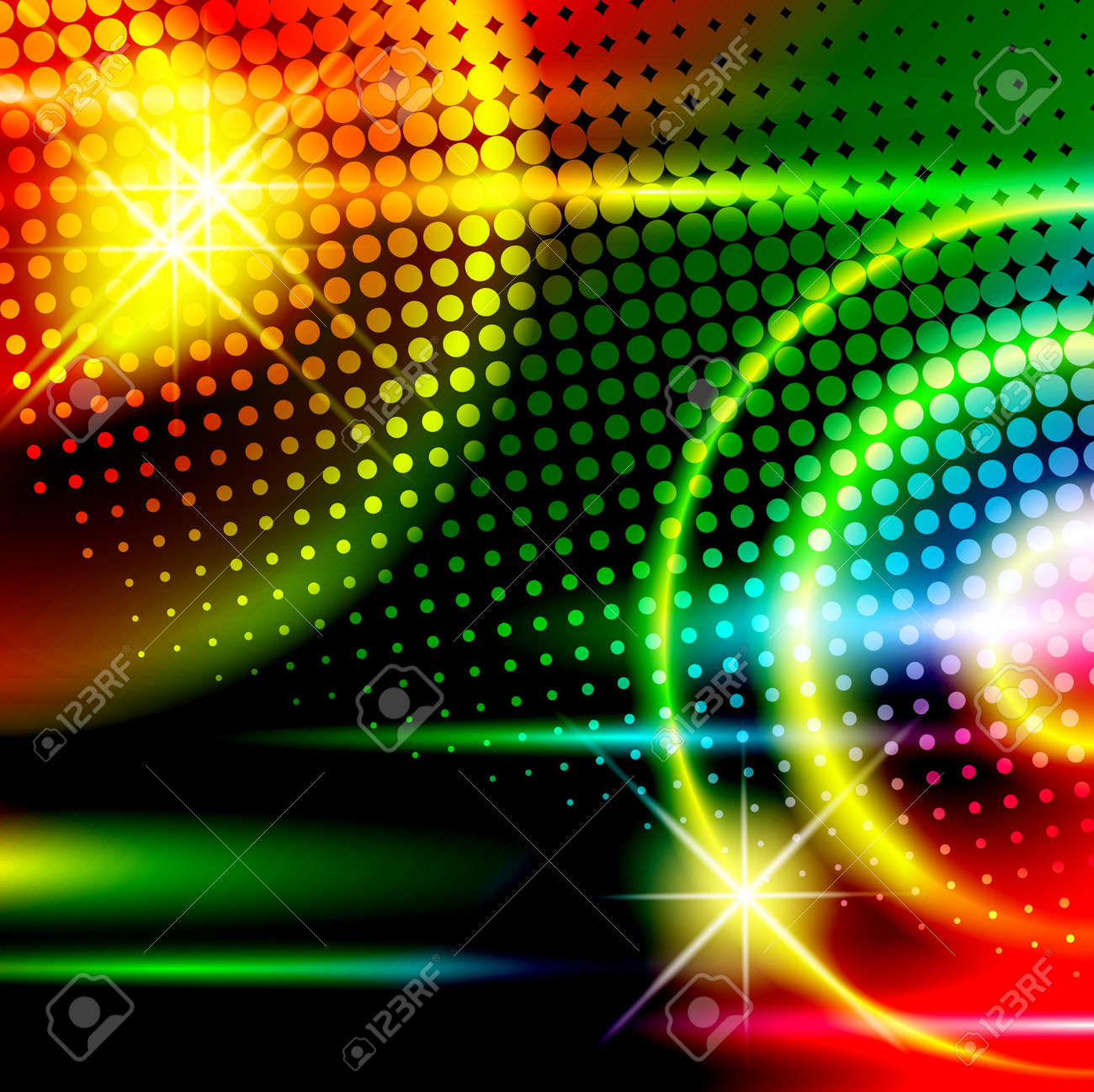 abstract multicolored disco background - 11141552