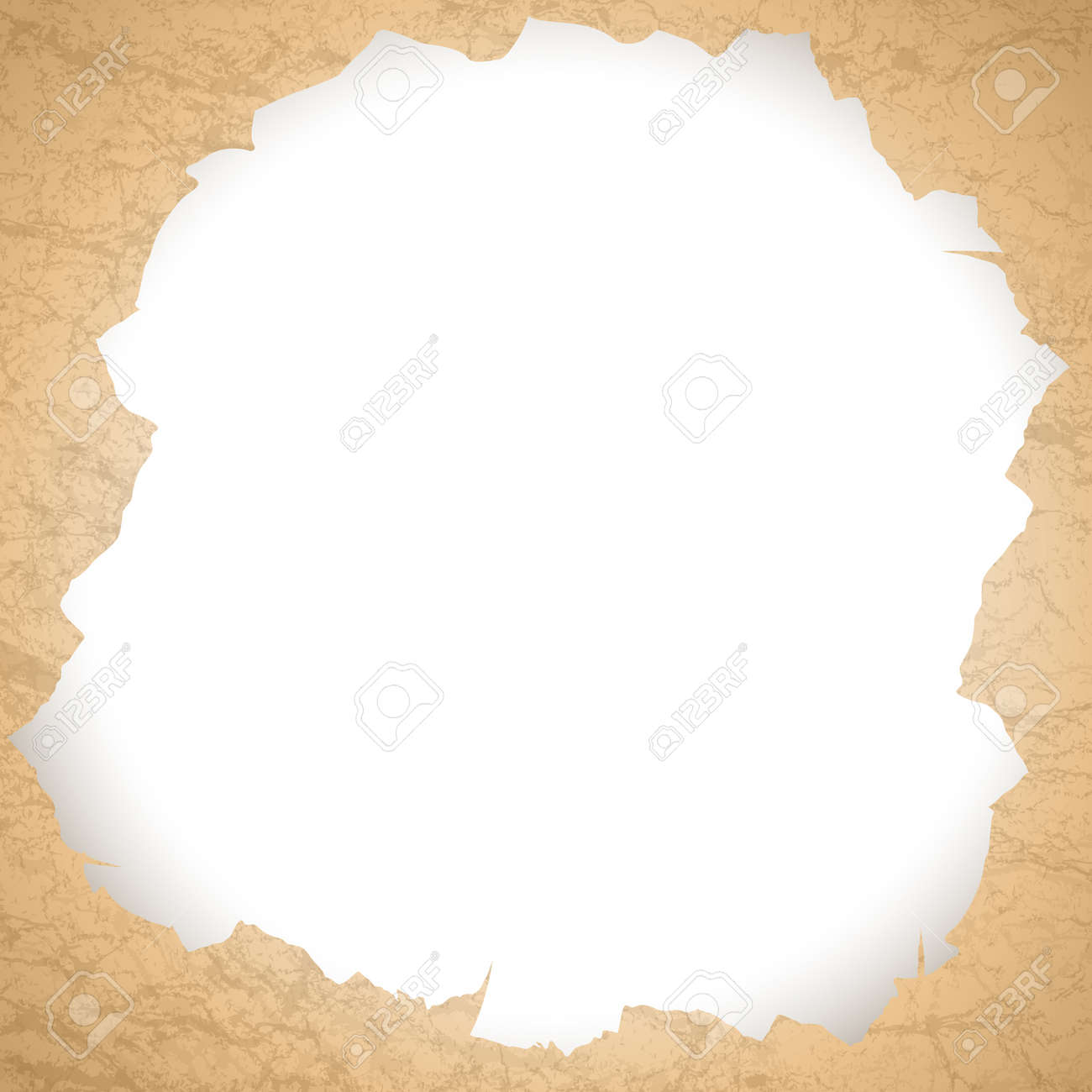 vintage torn paper hole with copyspace for your text Stock Vector - 14386700