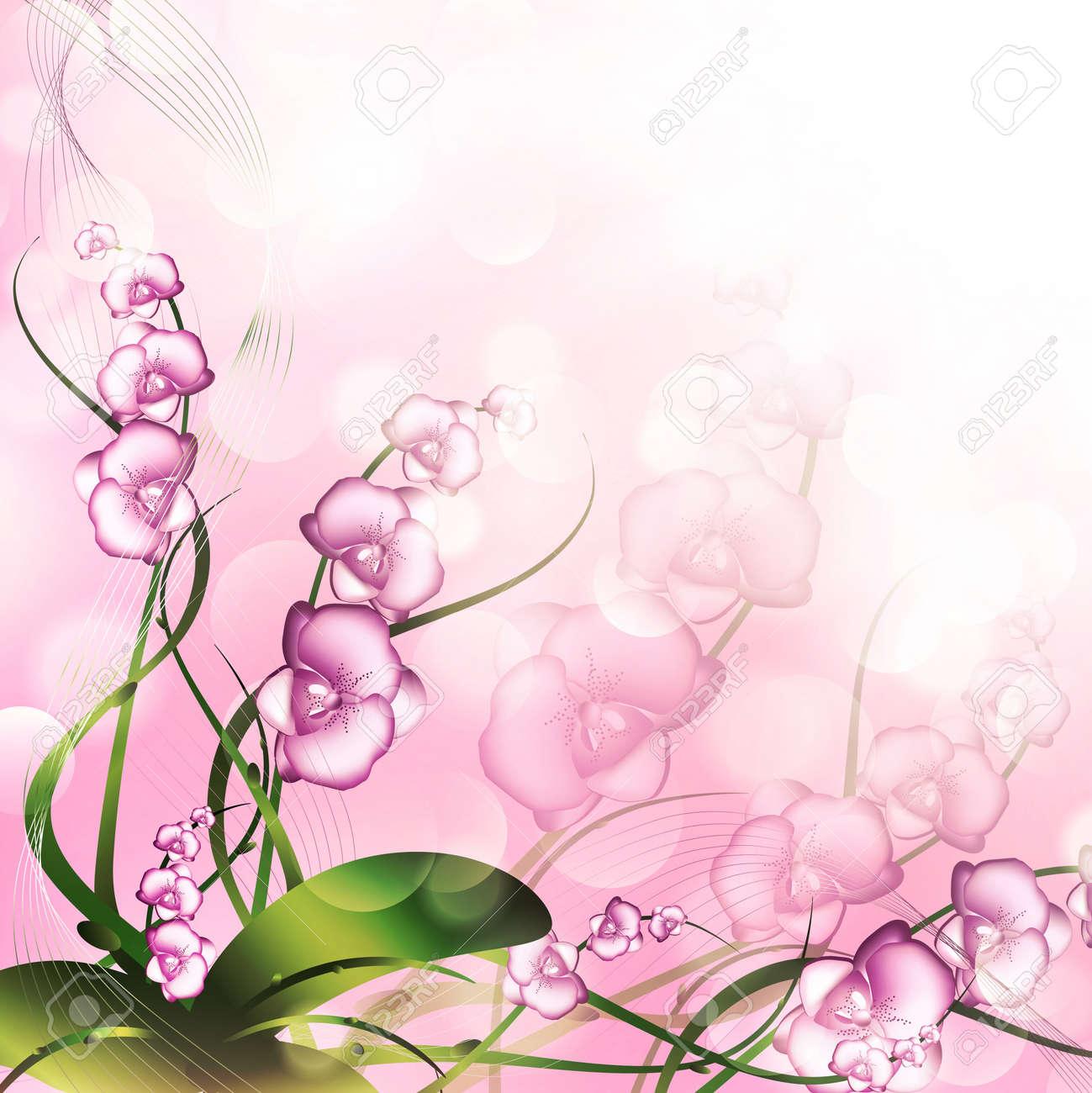 Purple Orchid Clipart