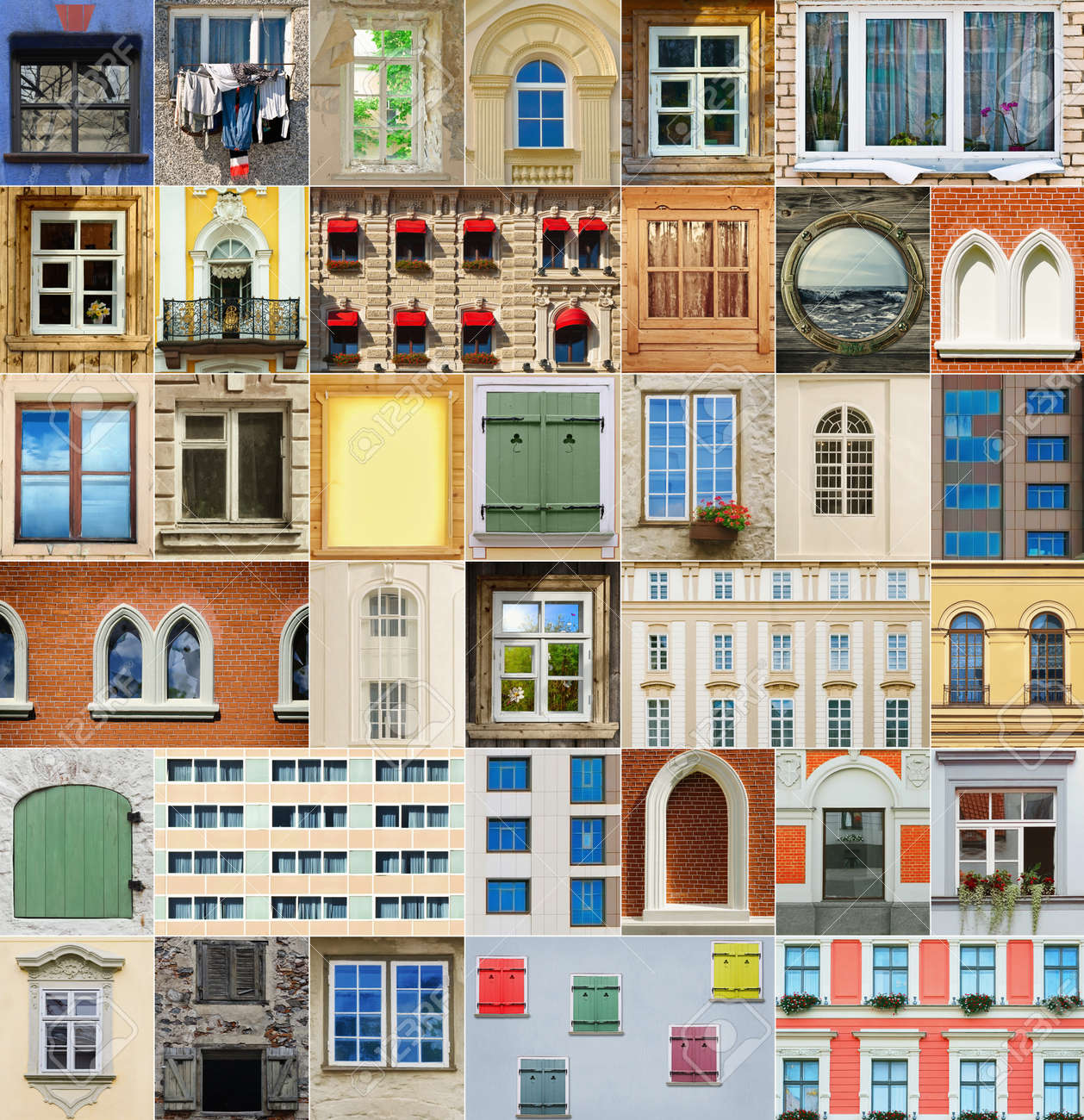 Window pane types - Set From The Different Types Of Windows Stock Photo 17333862