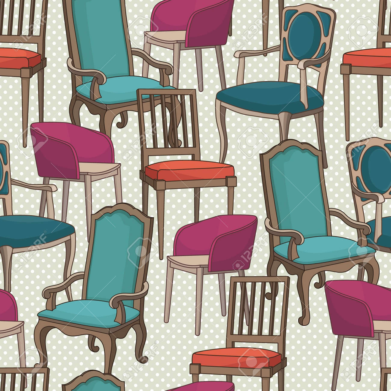 Vector pattern with armchairs Stock Vector - 21253215