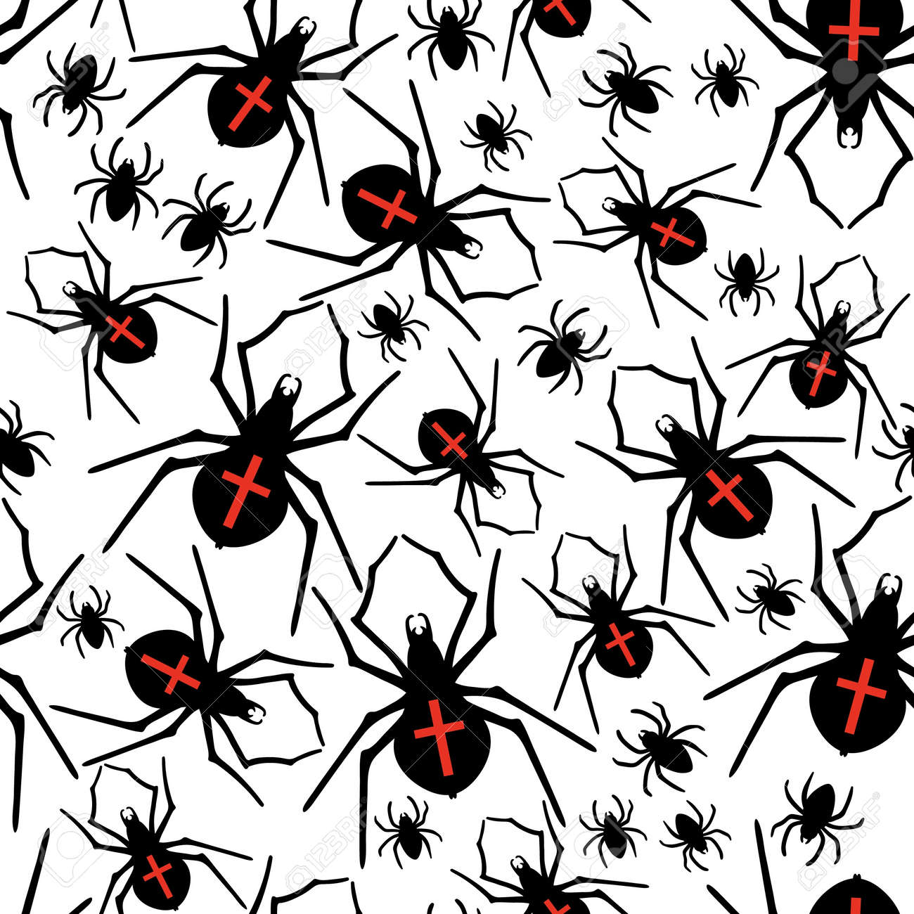 Vector spiders seamless pattern Stock Vector - 21525347