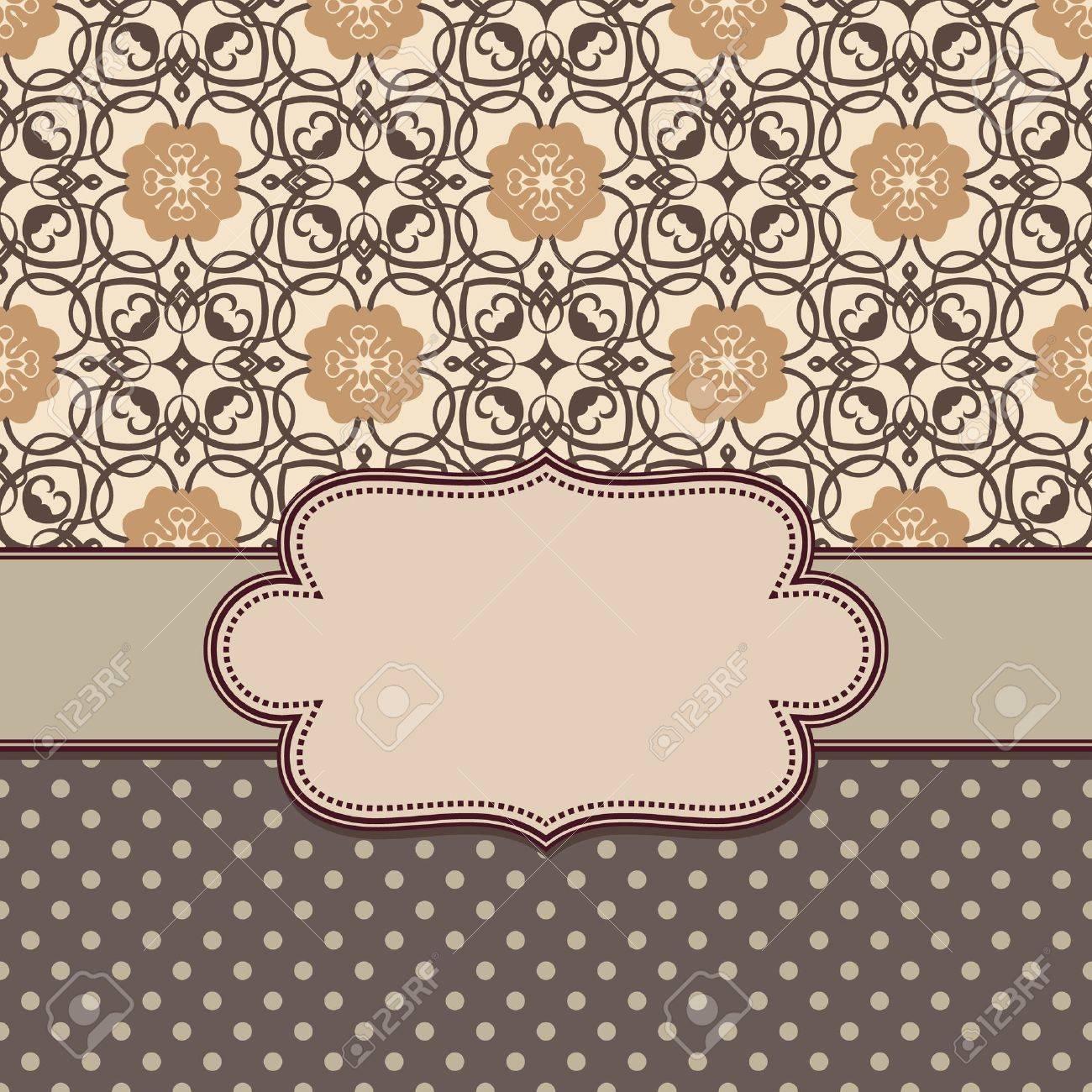 Vintage vector flower frame - 21930242