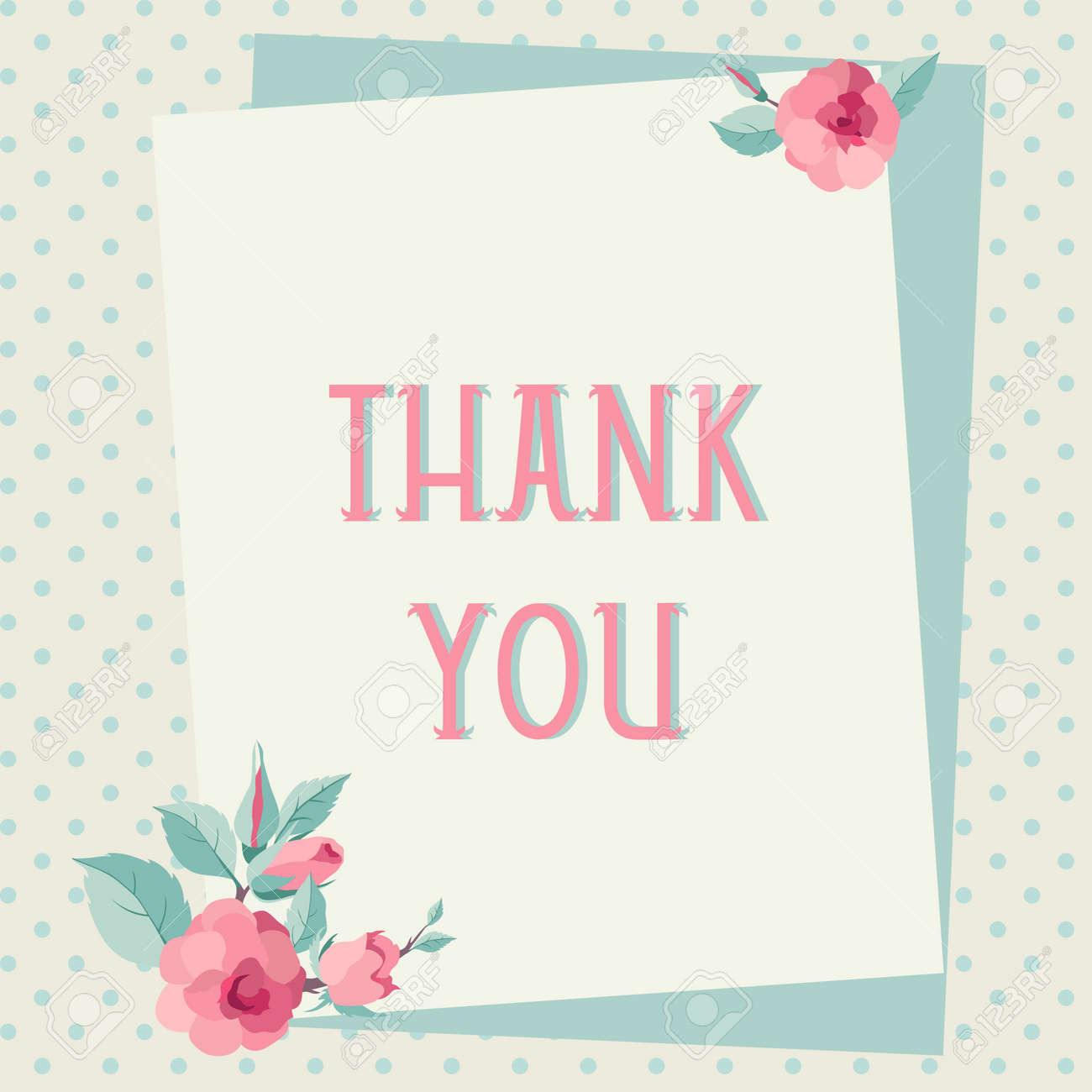 Thank you card template with roses vintage letters royalty free thank you card template with roses vintage letters stock vector 29834441 maxwellsz