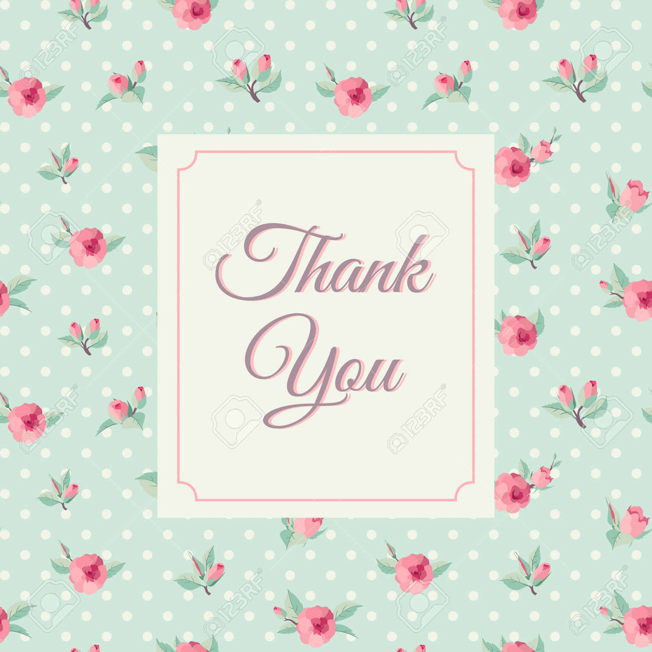 Thank you card template with rose background vintage lettering thank you card template with rose background vintage lettering stock vector 33219699 maxwellsz