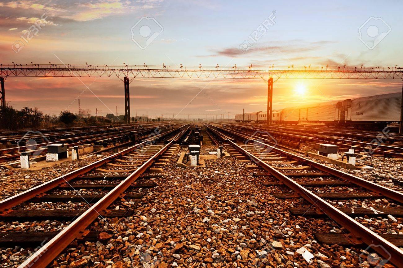 Background image rails - Rails Under The Sky Background Stock Photo 20602009