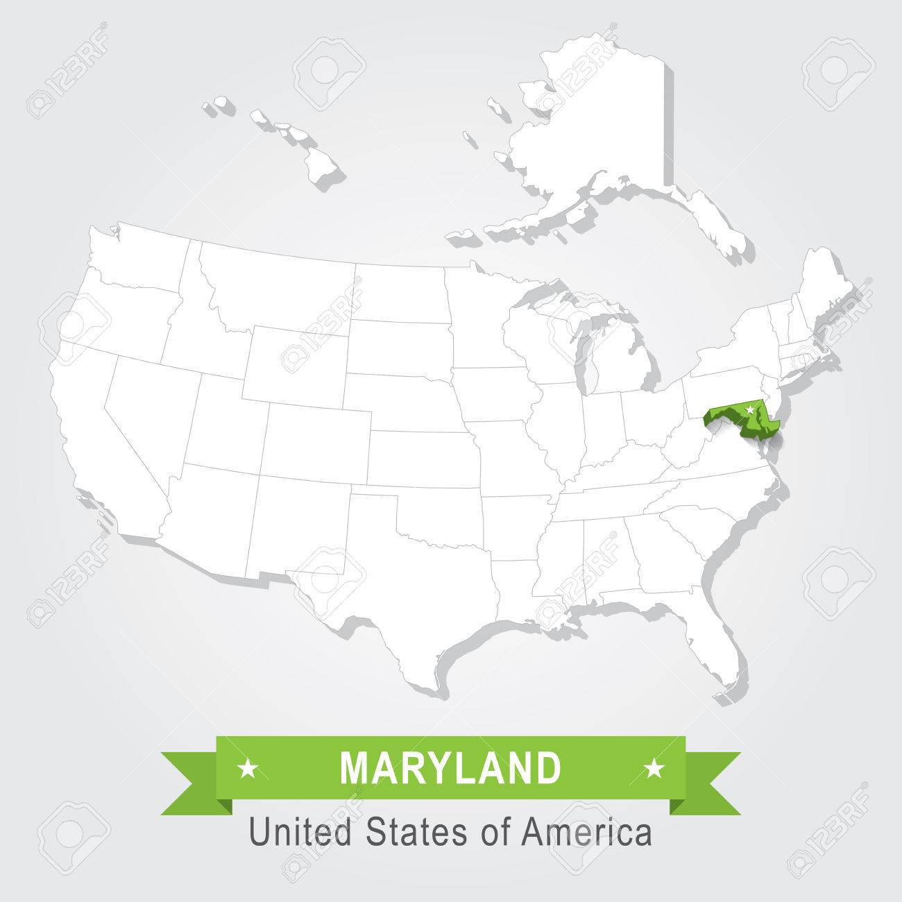 Us Map Maryland - Map of us maryland