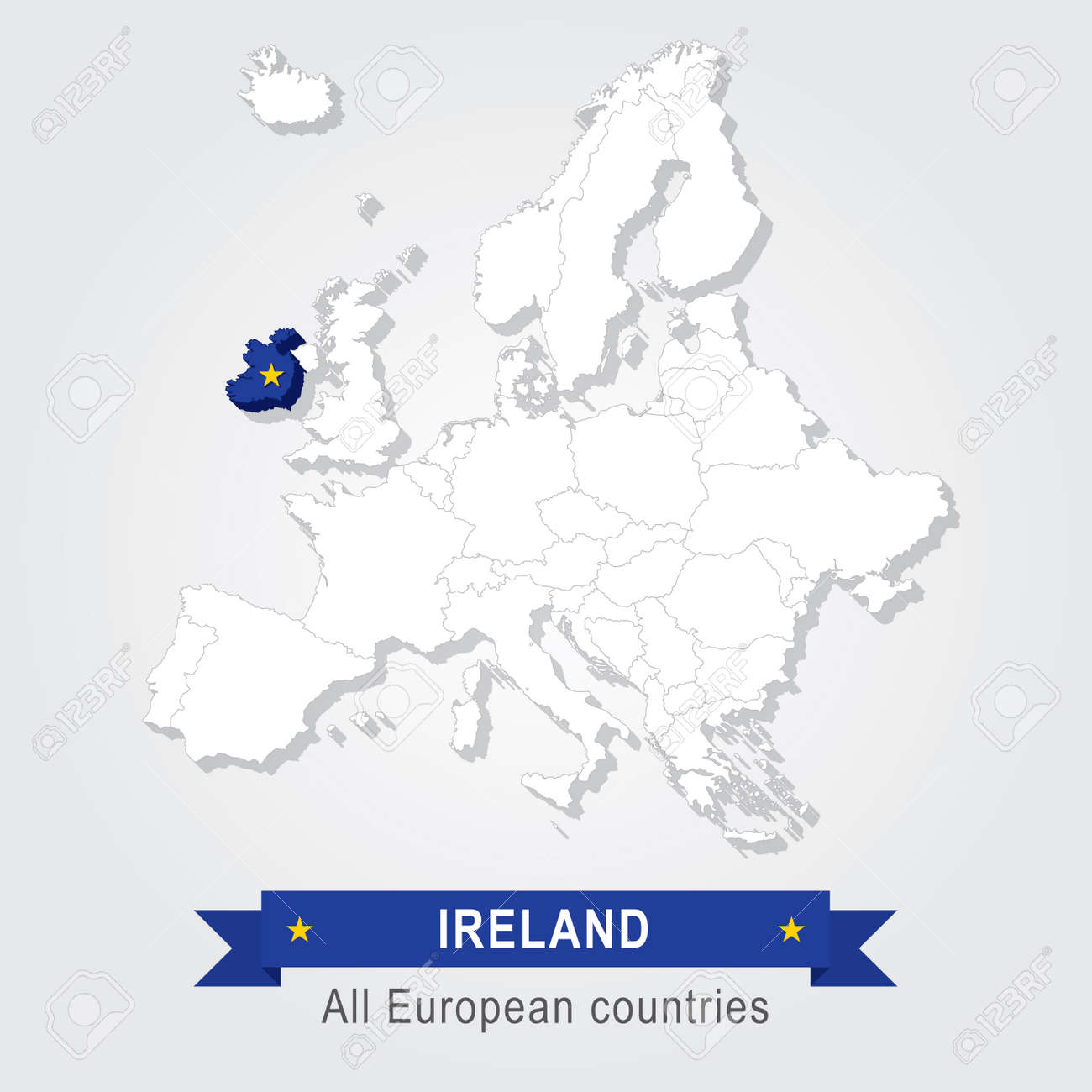 Ireland europe administrative map country in continent royalty ireland europe administrative map country in continent stock vector 53079944 gumiabroncs Choice Image