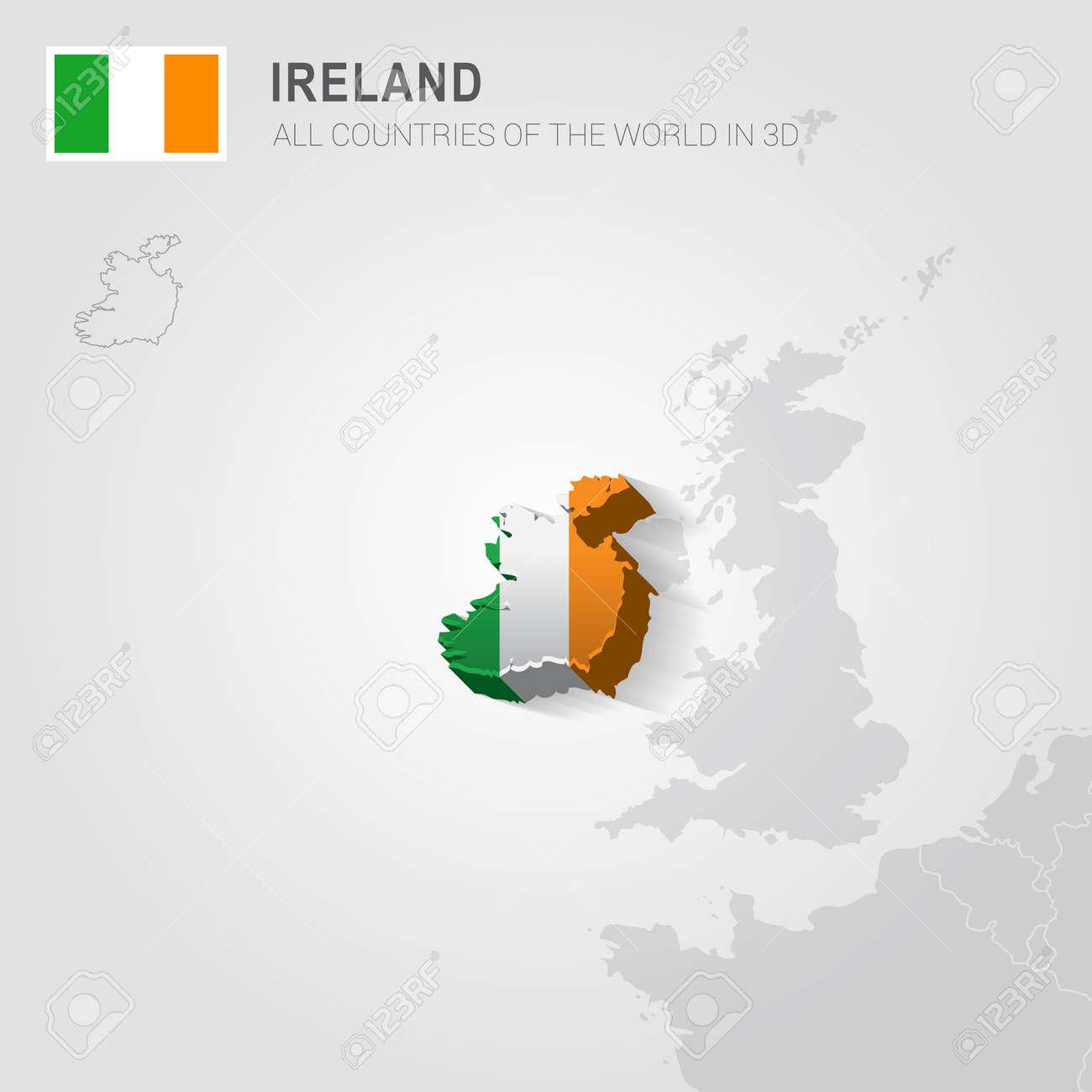 Irland Karte Europa.Stock Photo