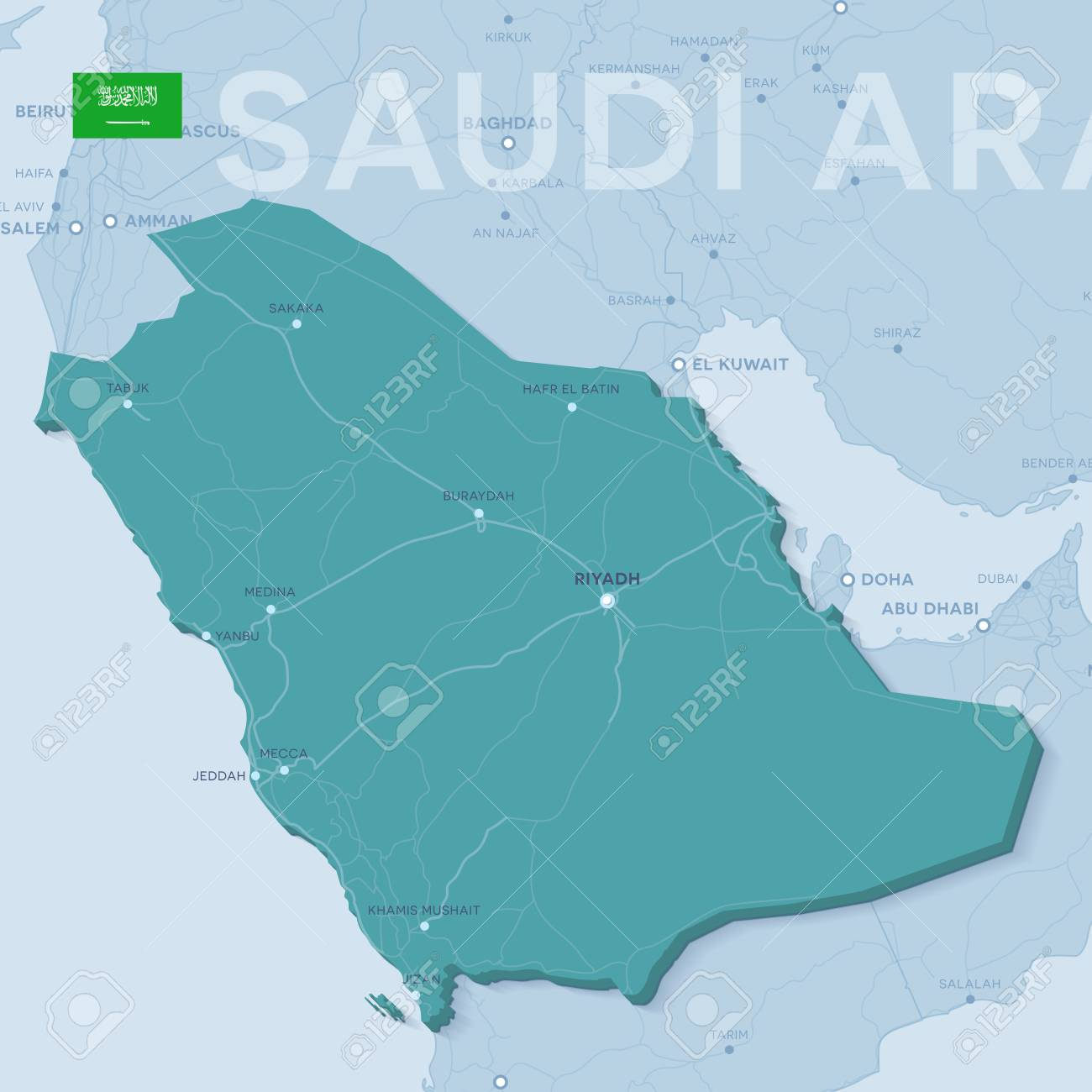 3d verctor map of cities and roads in Asia. Saudi Arabia and.. on south africa map, tunisia map, kuwait map, dubai map, iraq map, oman map, bangladesh map, germany map, yemen map, soviet union map, syria map, philippines map, singapore map, sudan map, japan map, morocco map, jordan map, ksa map, bahrain map, china map,