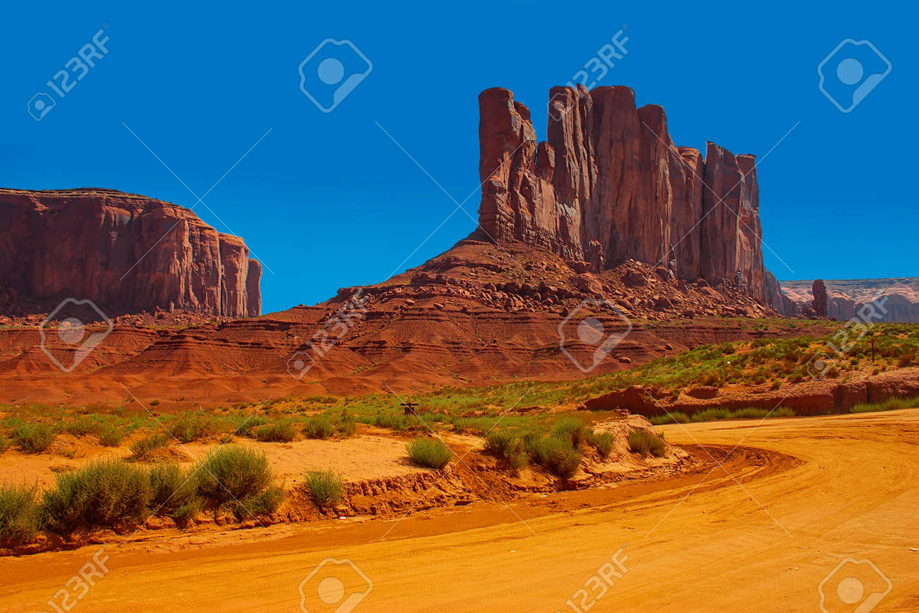 Dirt road in Monument Valley Stock Photo - 18098229