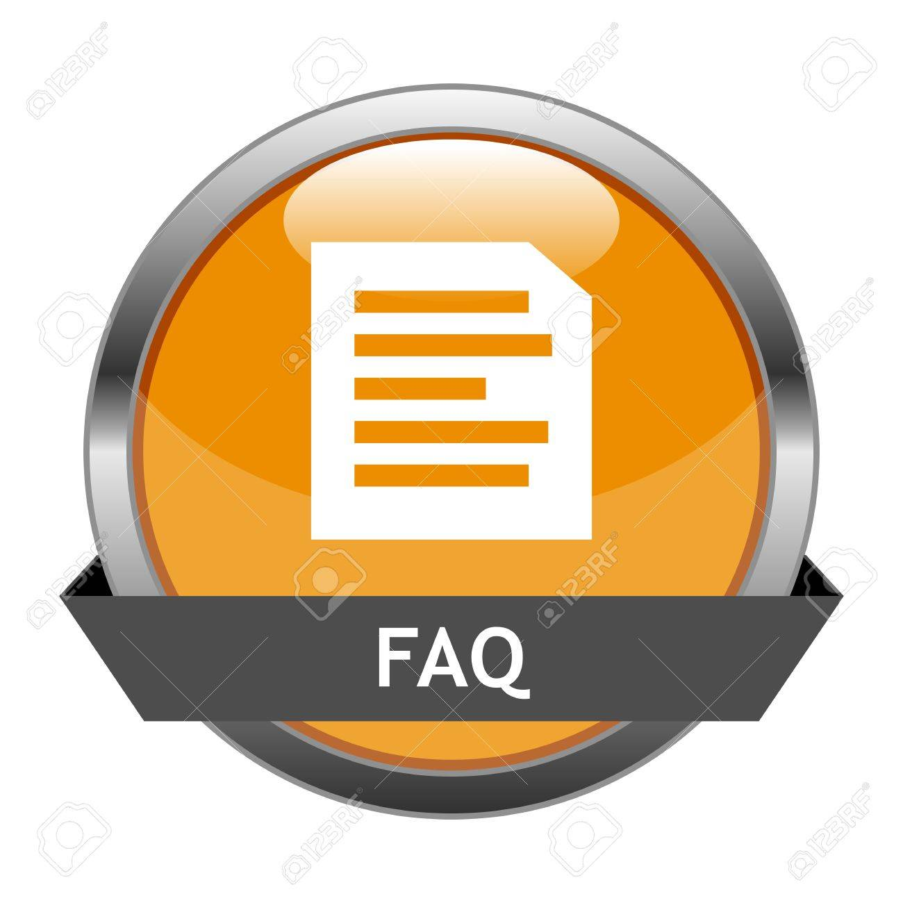 Button FAQ Stock Vector - 16528937