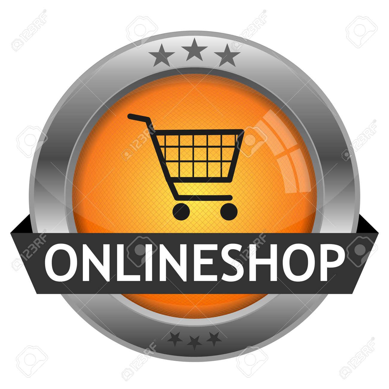 Button Onlineshop Stock Vector - 16528994