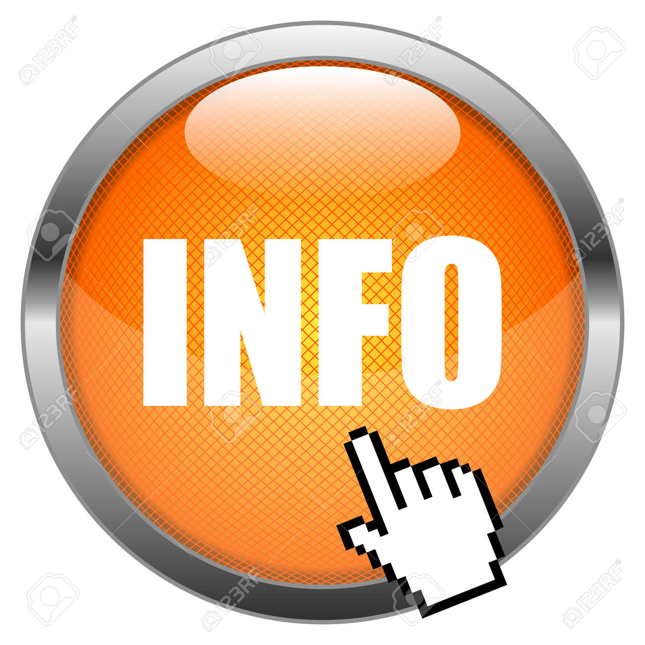 Button Info Stock Vector - 16852630