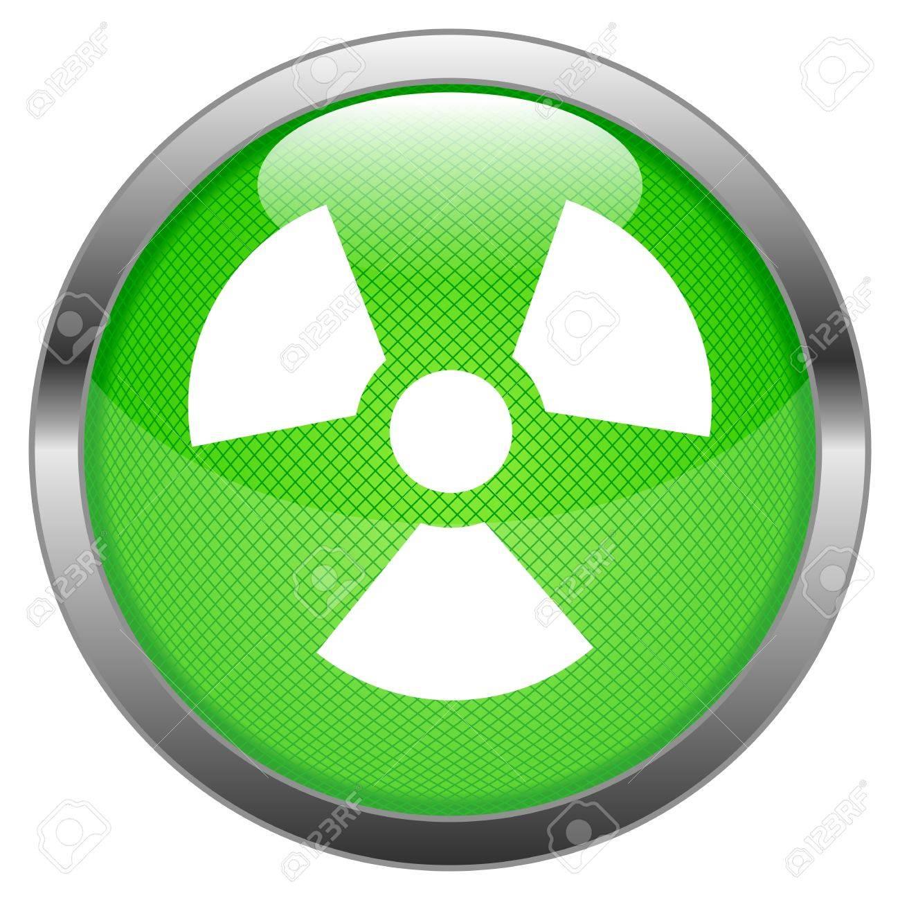 Button Radioactivity Stock Vector - 16852493
